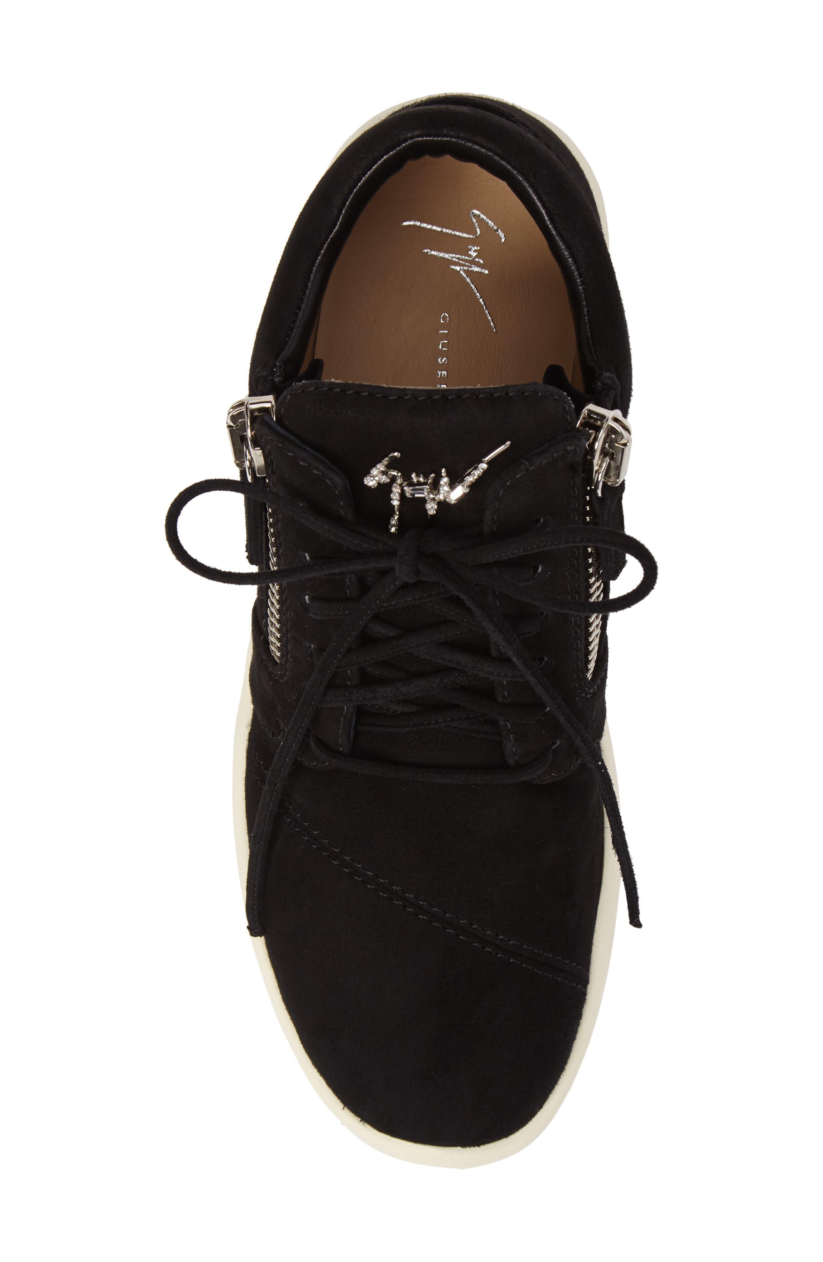 Zip Mid-Top Sneaker,                             Alternate thumbnail 5, color,                             001