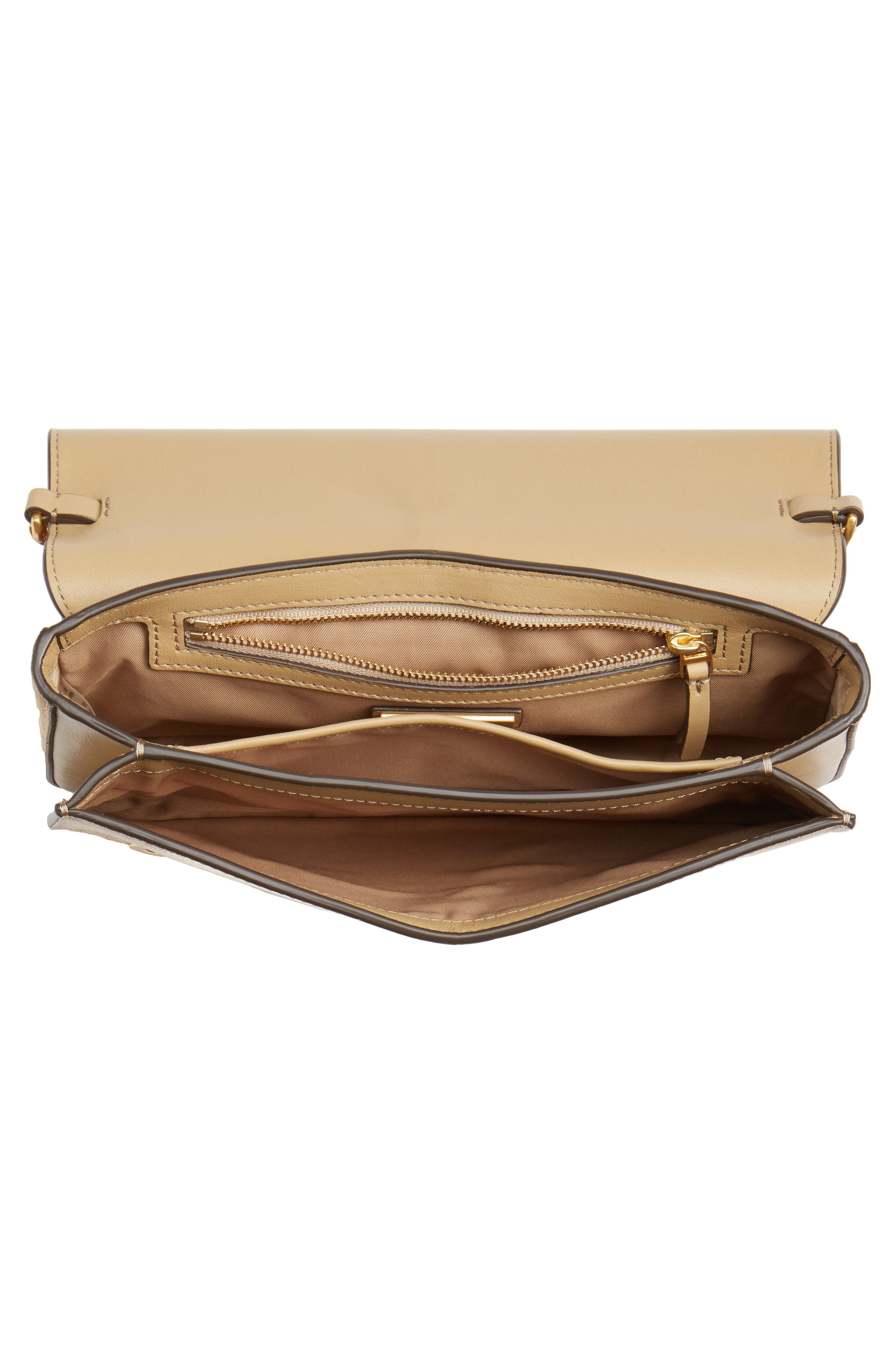 Chelsea Convertible Metallic Leather Clutch,                             Alternate thumbnail 4, color,                             710