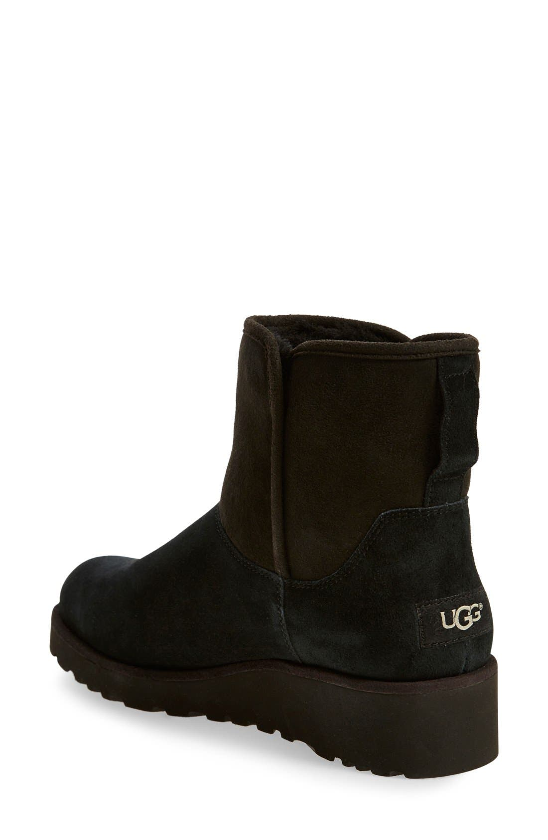 Kristin - Classic Slim<sup>™</sup> Water Resistant Mini Boot,                             Alternate thumbnail 2, color,                             BLACK SUEDE