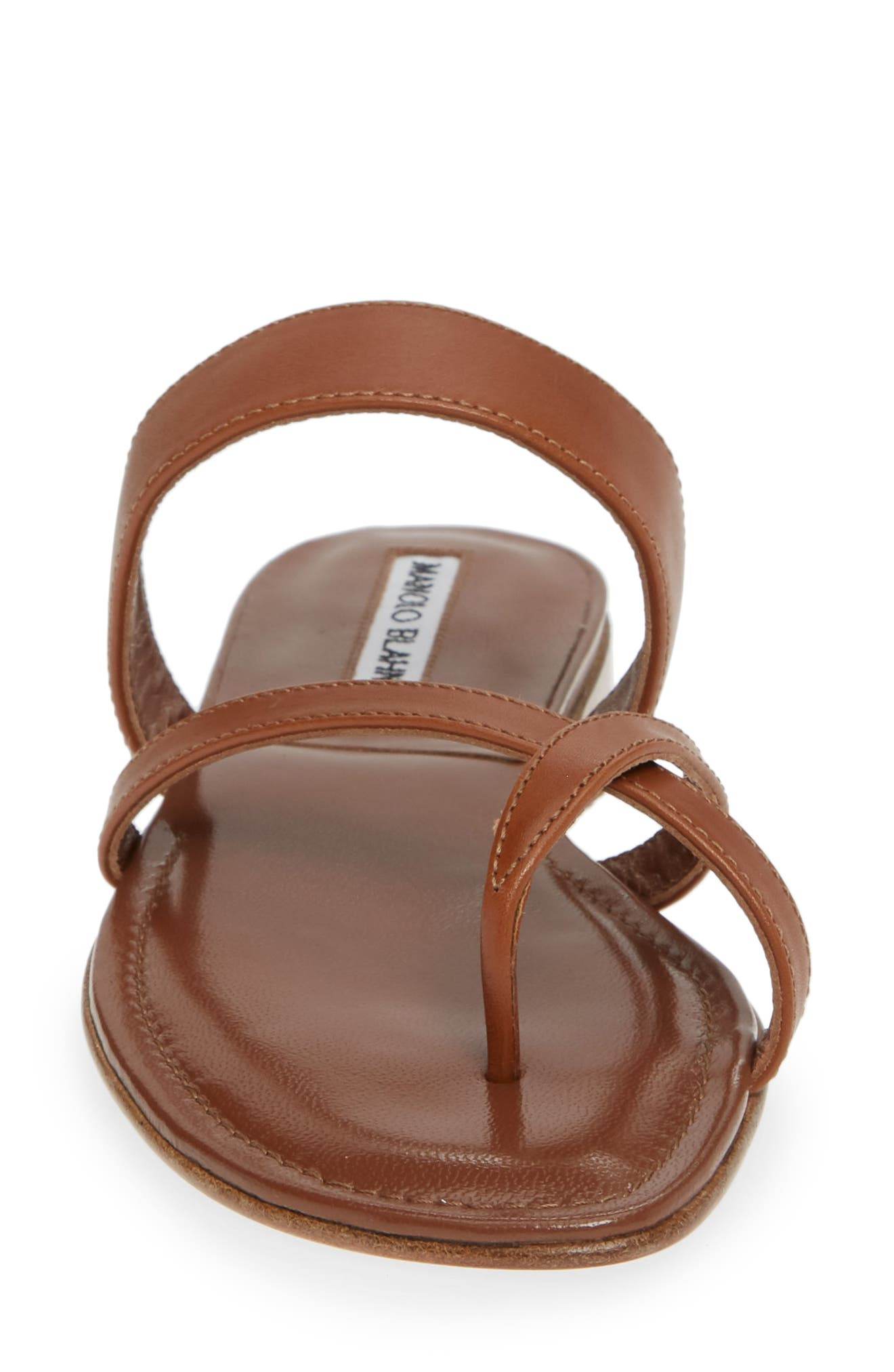 Slide Sandal,                             Alternate thumbnail 4, color,                             LUGGAGE BROWN