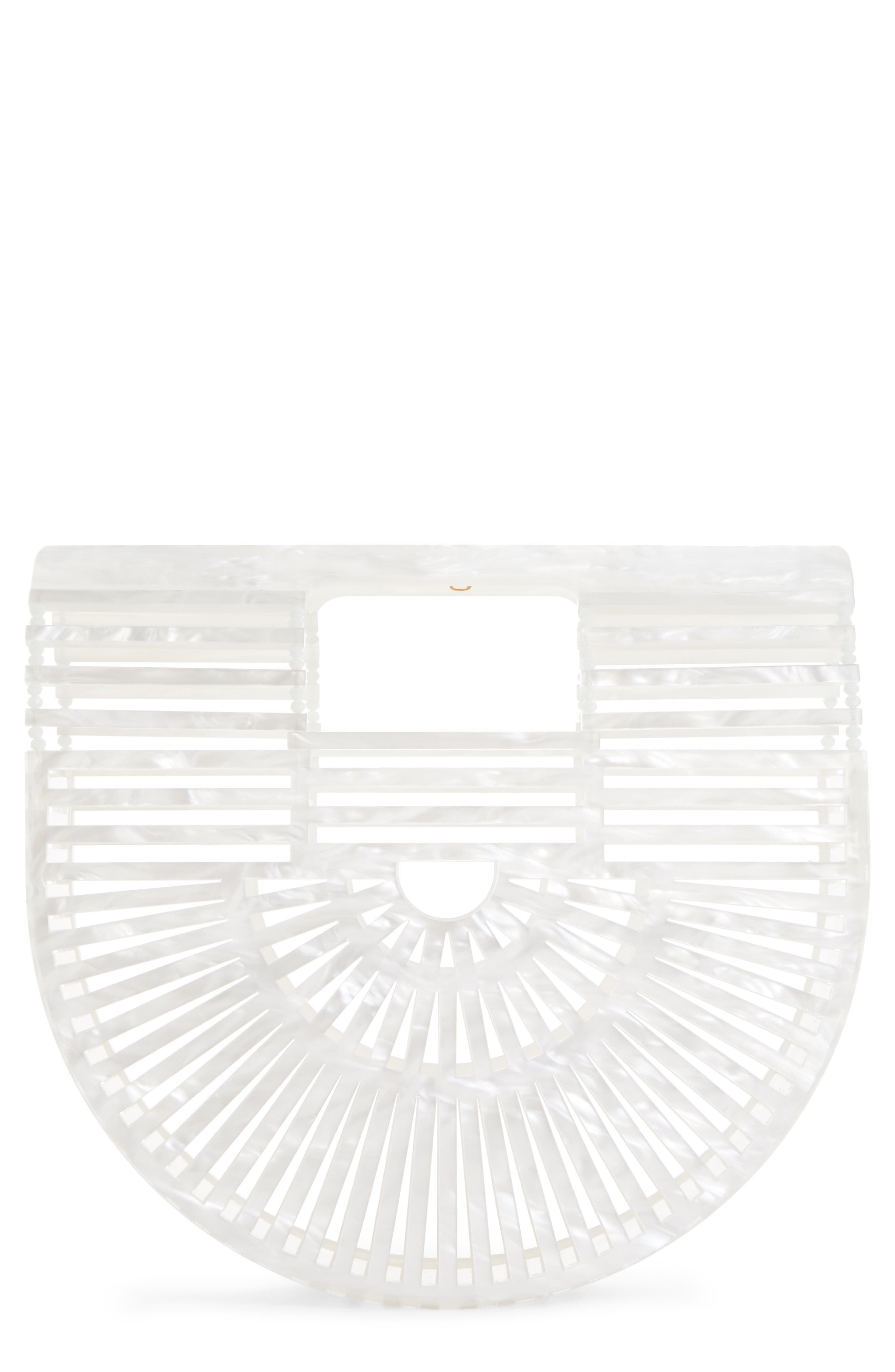 Mini Ark Handbag,                         Main,                         color, PEARL