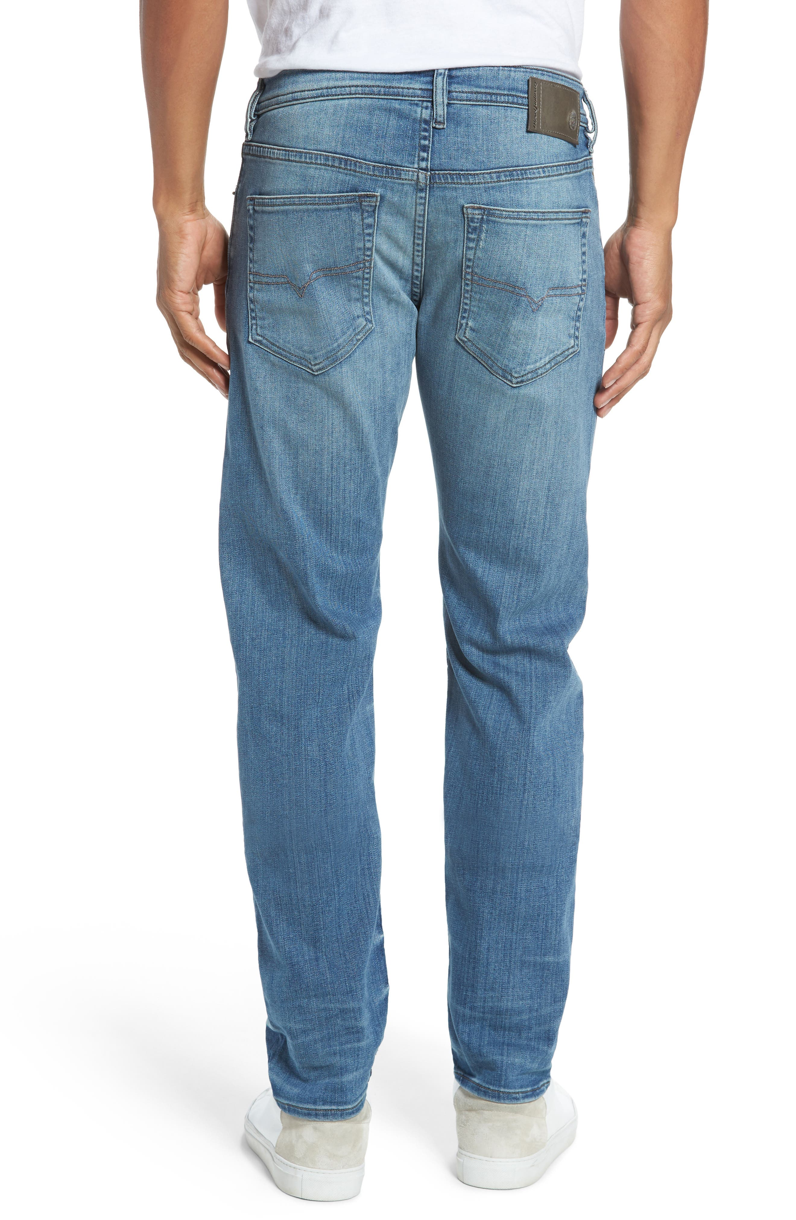 'Buster' Slim Straight Fit Jeans,                             Alternate thumbnail 3, color,                             400