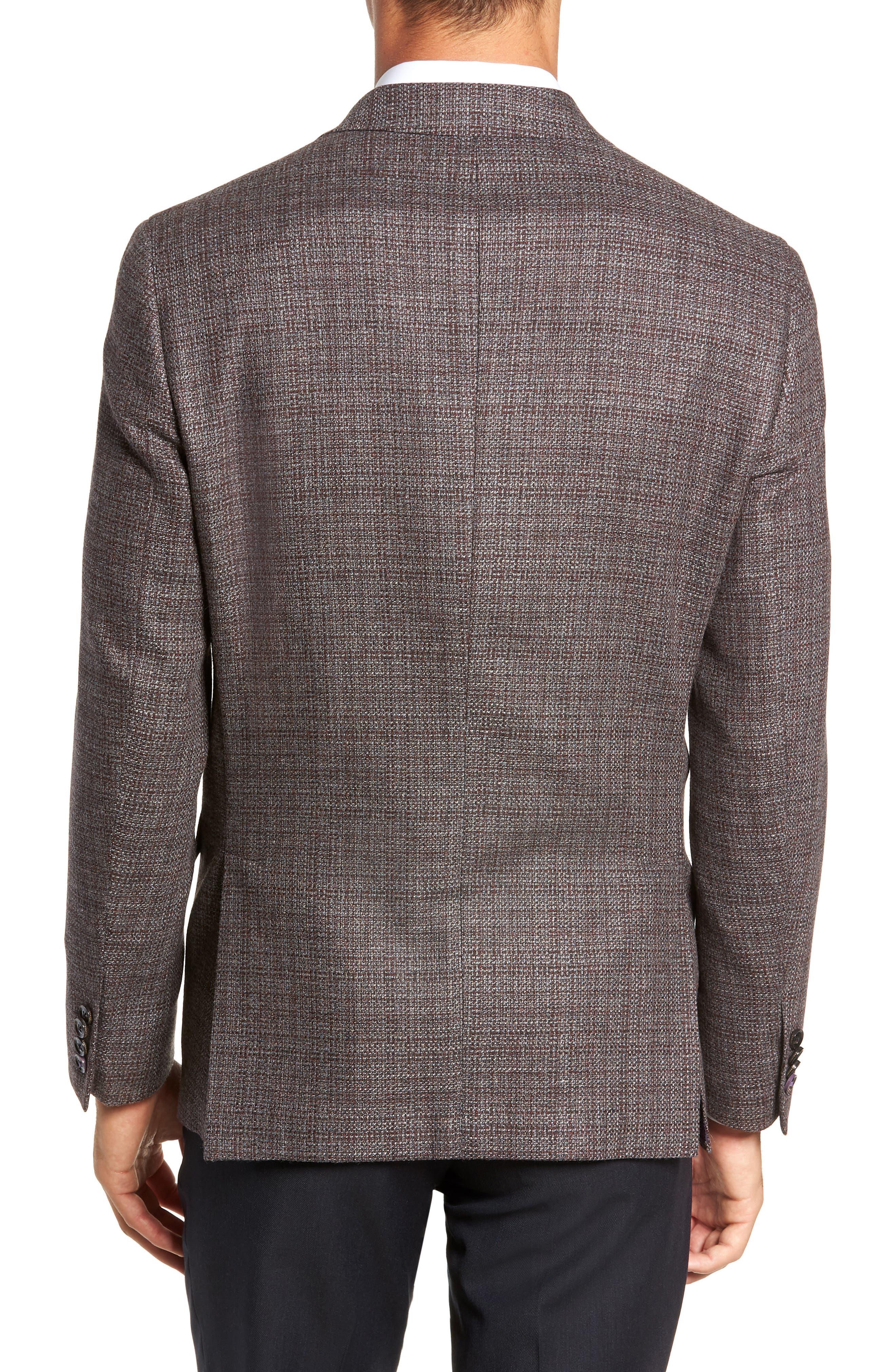 Konan 2B Trim Fit Textured Sport Coat,                             Alternate thumbnail 2, color,                             RED