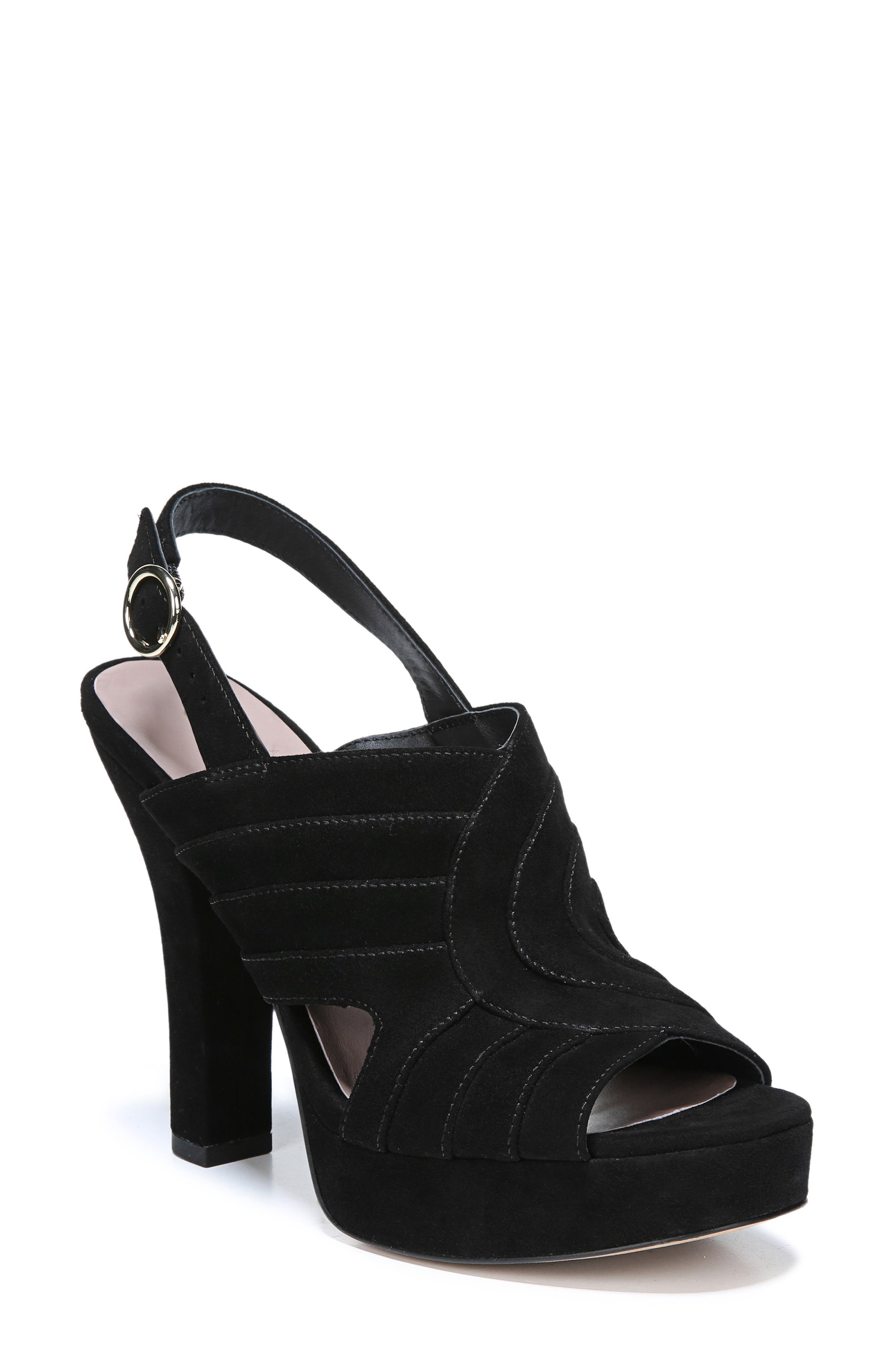 Tabby Platform Sandal,                             Main thumbnail 1, color,                             BLACK