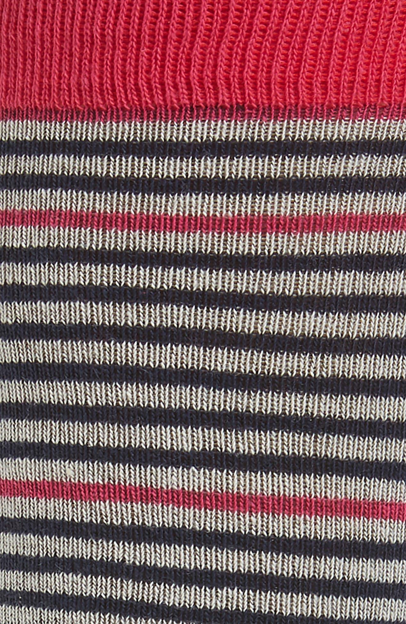Pinstripe Socks,                             Alternate thumbnail 4, color,
