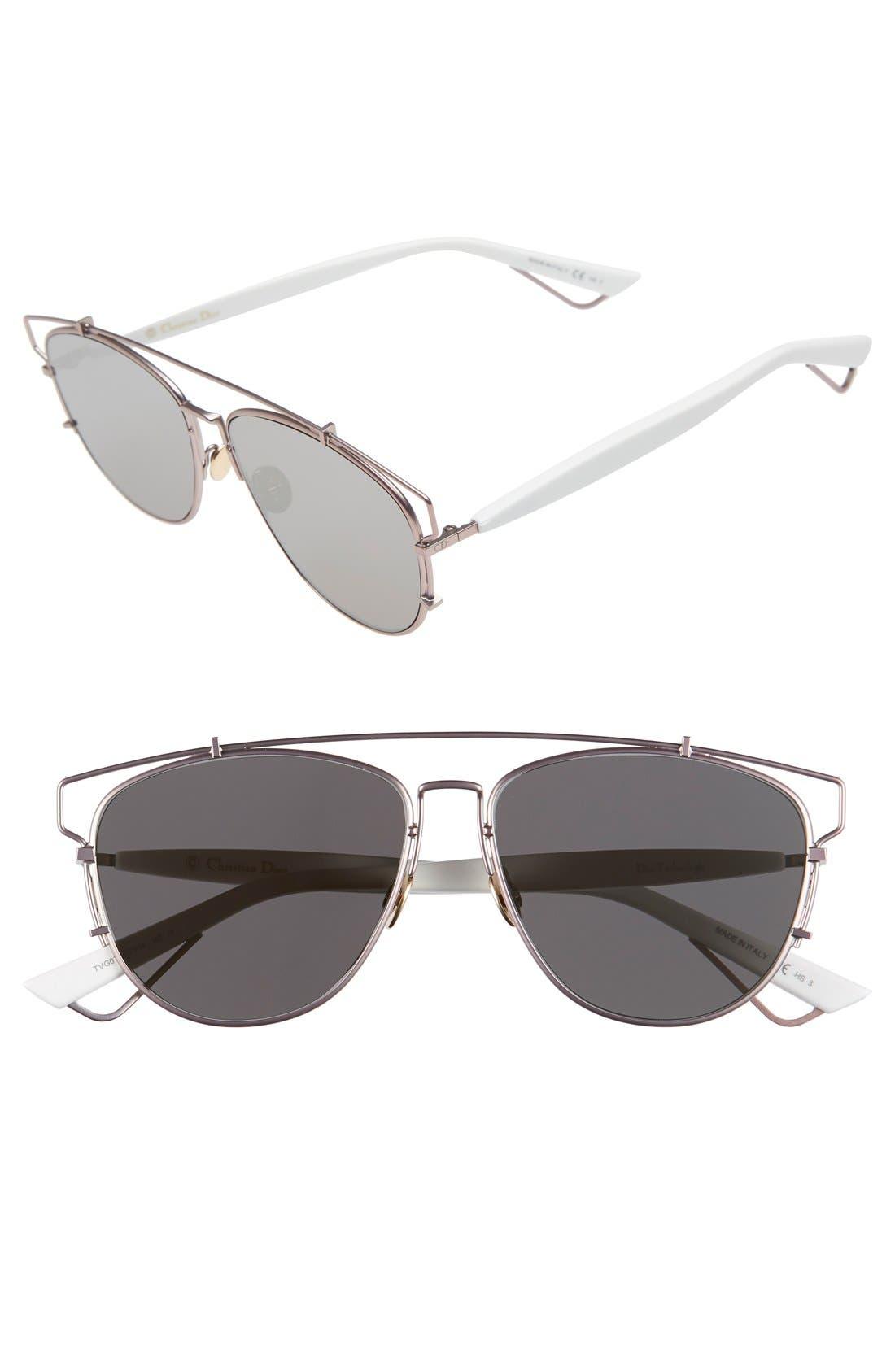 Technologic 57mm Brow Bar Sunglasses,                             Main thumbnail 12, color,