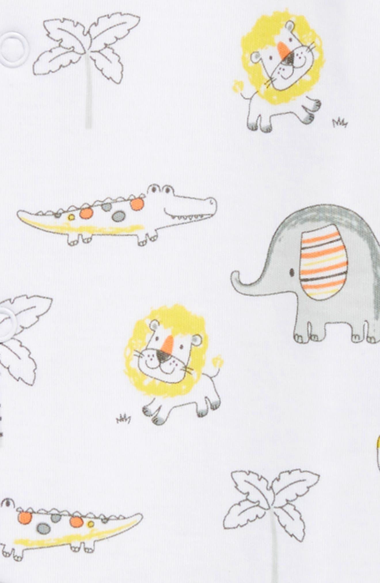 Jungle Jamboree Footie,                             Alternate thumbnail 2, color,