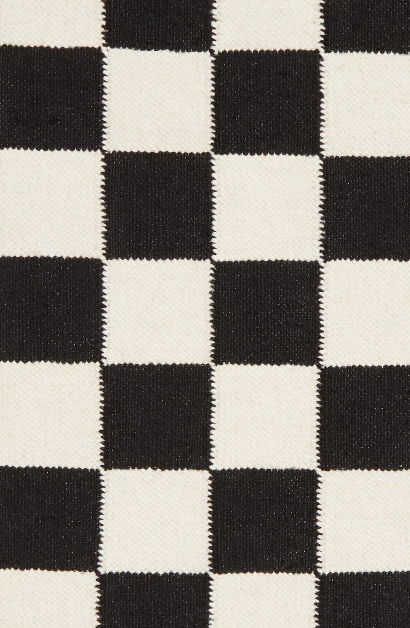 AELFIE,                             Checkmate Flat Weave Rug,                             Alternate thumbnail 2, color,                             100