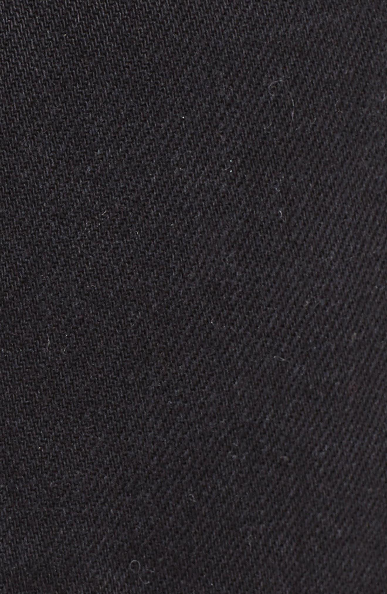 Le Mini Denim Skirt,                             Alternate thumbnail 5, color,                             001