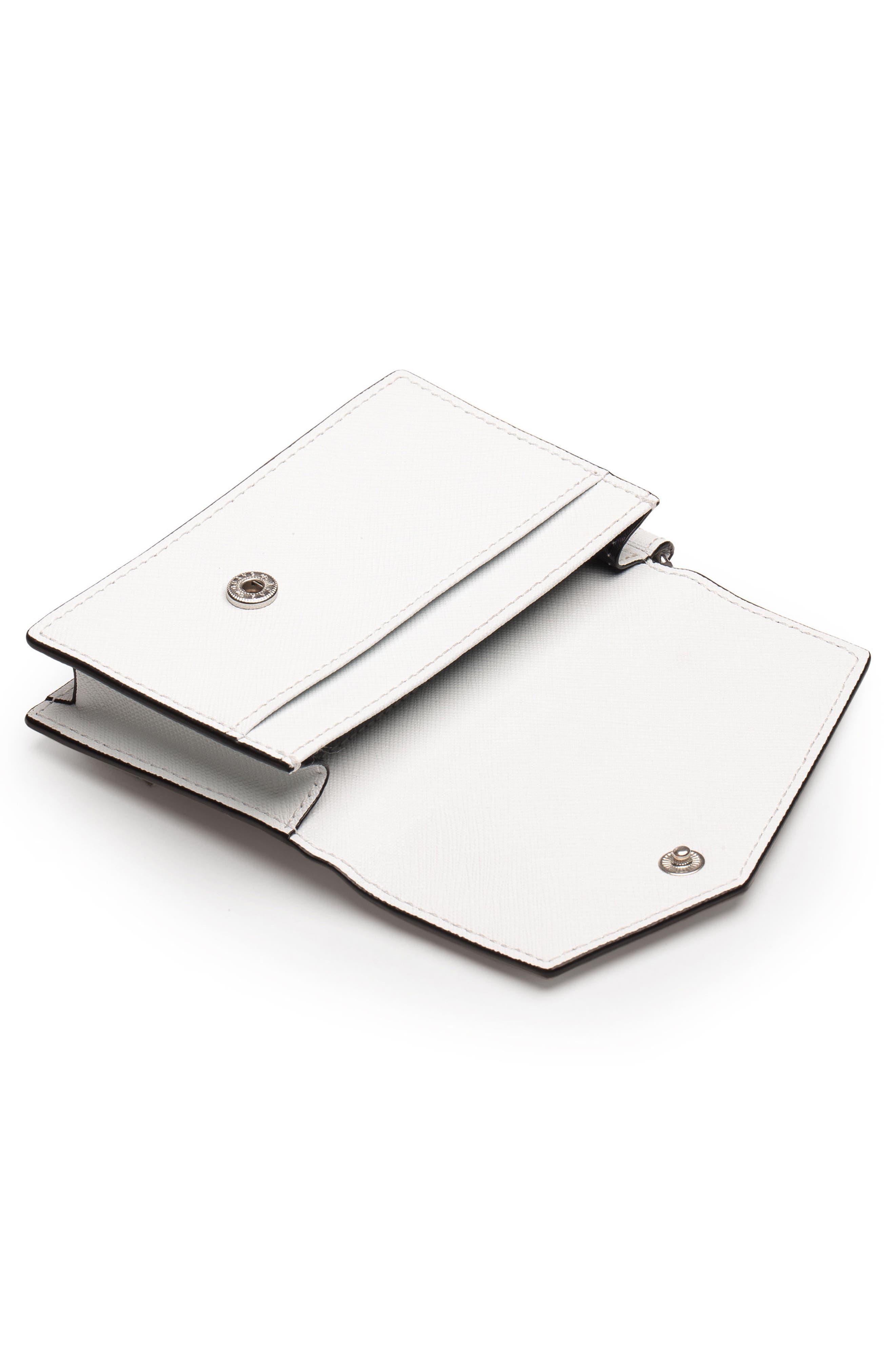 Cobble Hill Saffiano Leather Card Case,                             Alternate thumbnail 2, color,                             CHALK