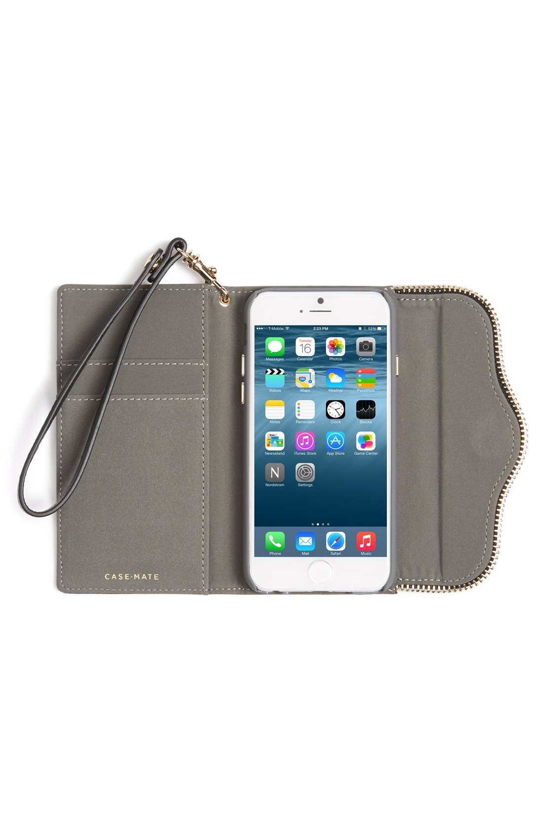 REBECCA MINKOFF,                             iPhone 6 & 6s Folio Wristlet,                             Alternate thumbnail 6, color,                             001
