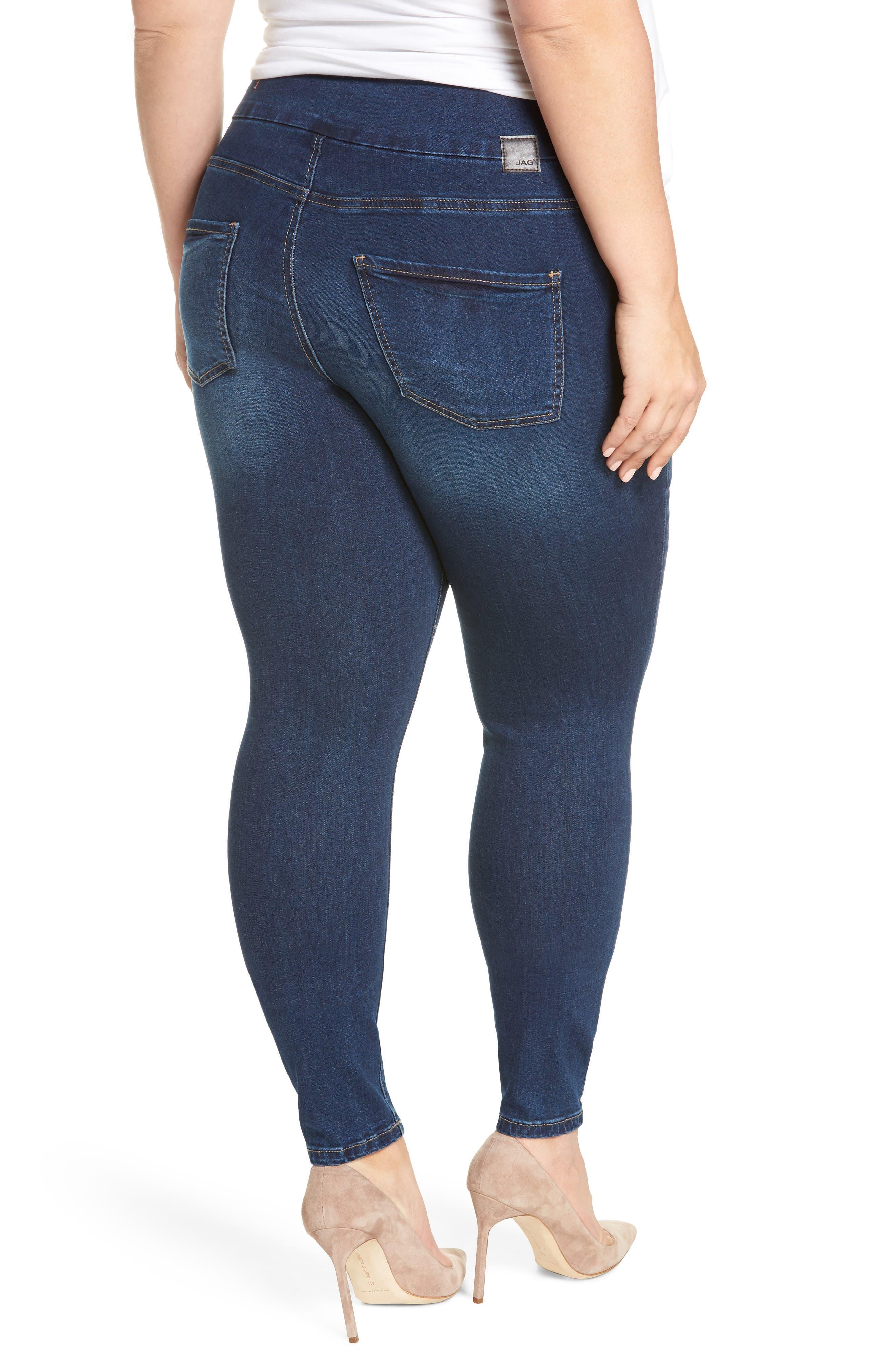 Nora Stretch Skinny Jeans,                             Alternate thumbnail 2, color,                             MED INDIGO