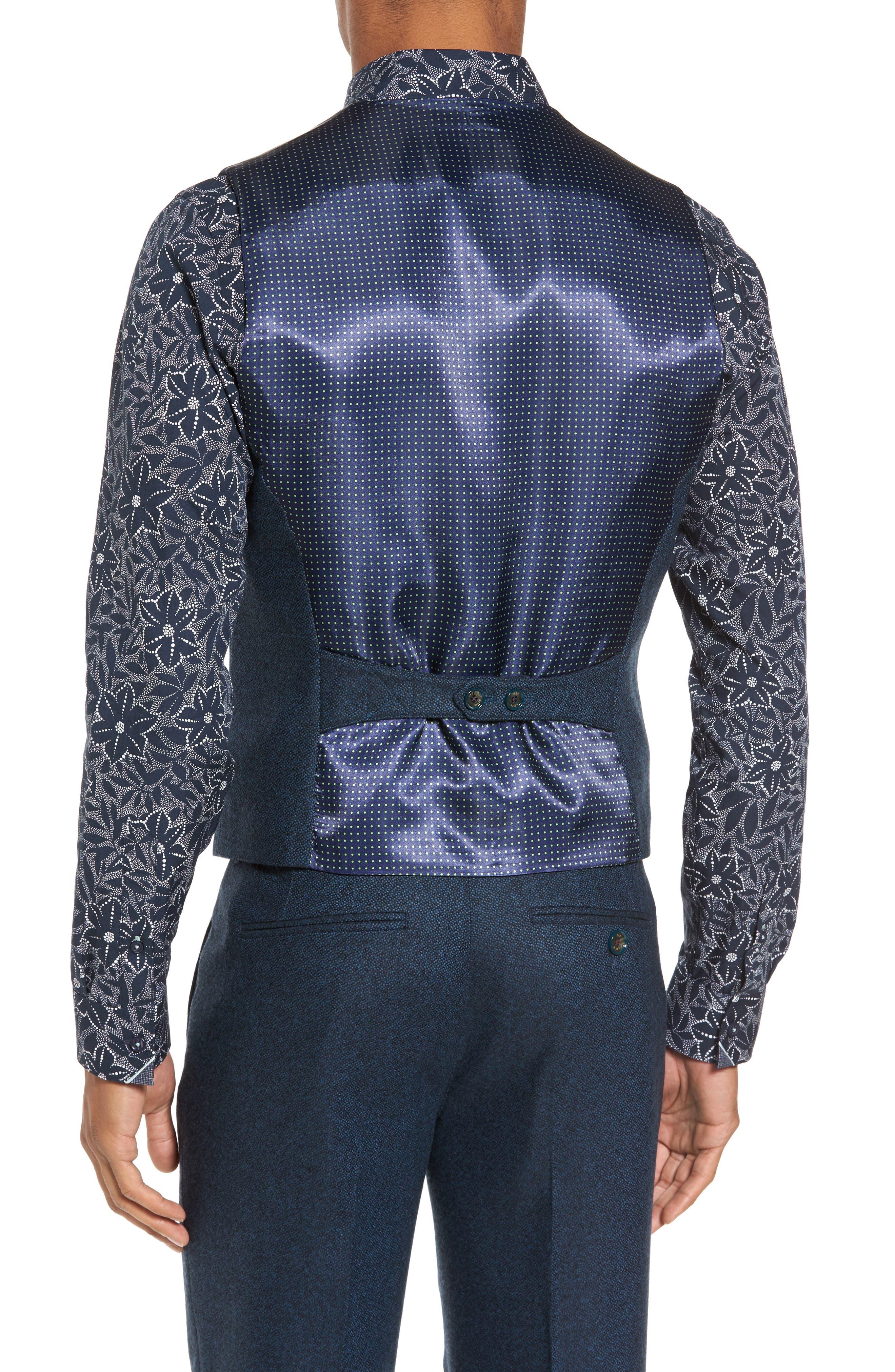 Modern Slim Fit Waistcoat,                             Alternate thumbnail 2, color,                             460