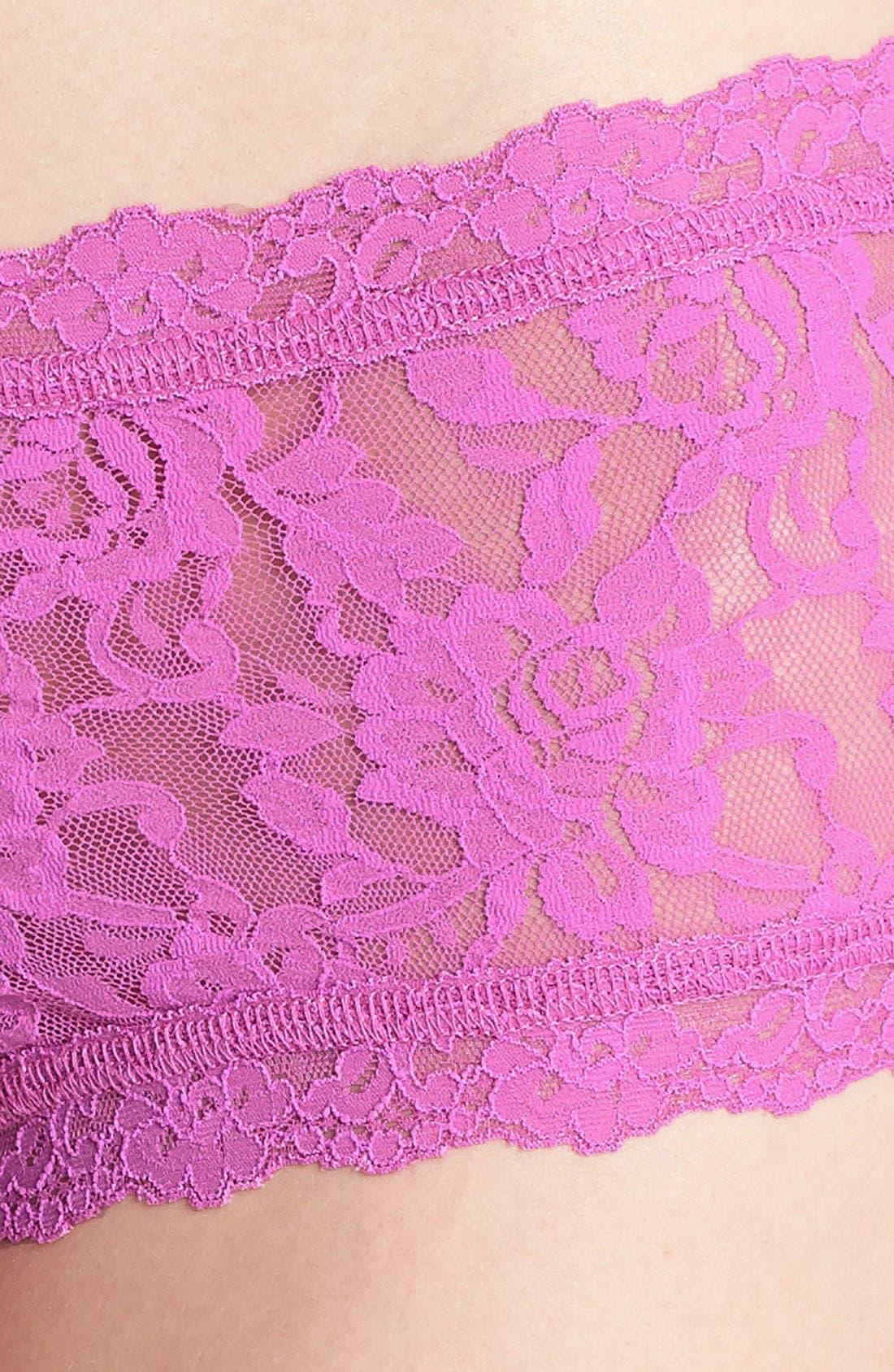 'Signature Lace' Boyshorts,                             Alternate thumbnail 240, color,
