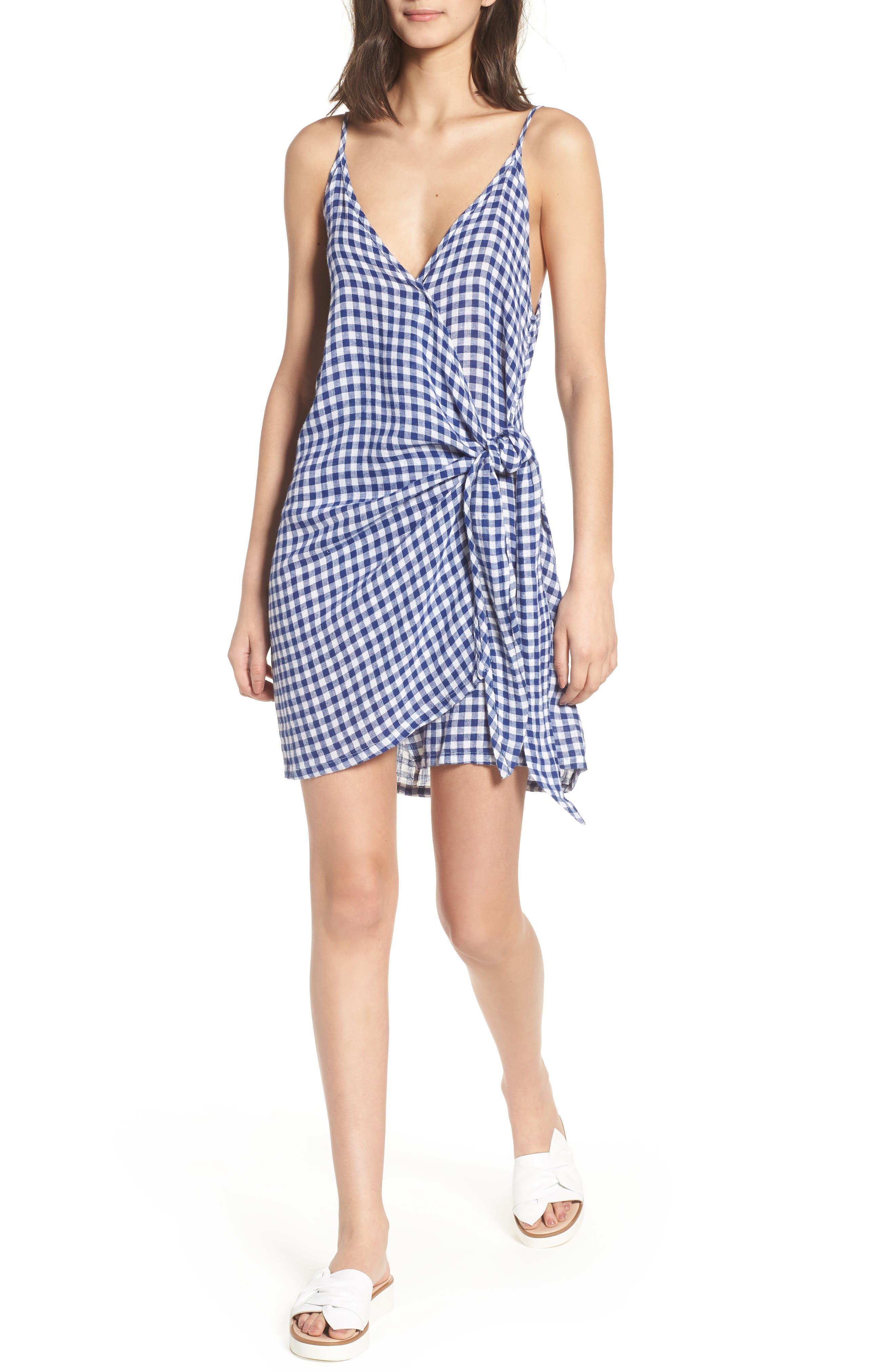 Malia Wrap Dress,                             Main thumbnail 1, color,                             407