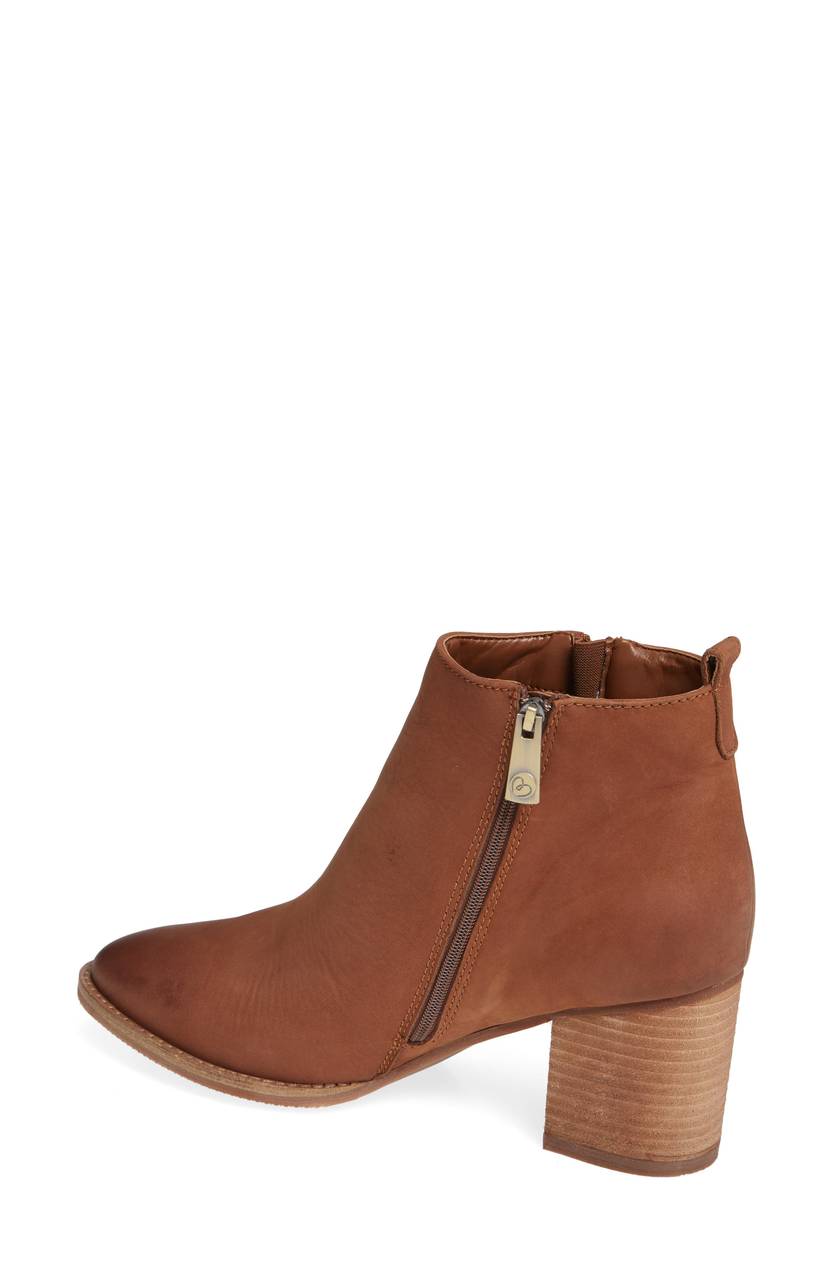 Nova Waterproof Bootie,                             Alternate thumbnail 2, color,                             COGNAC NUBUCK