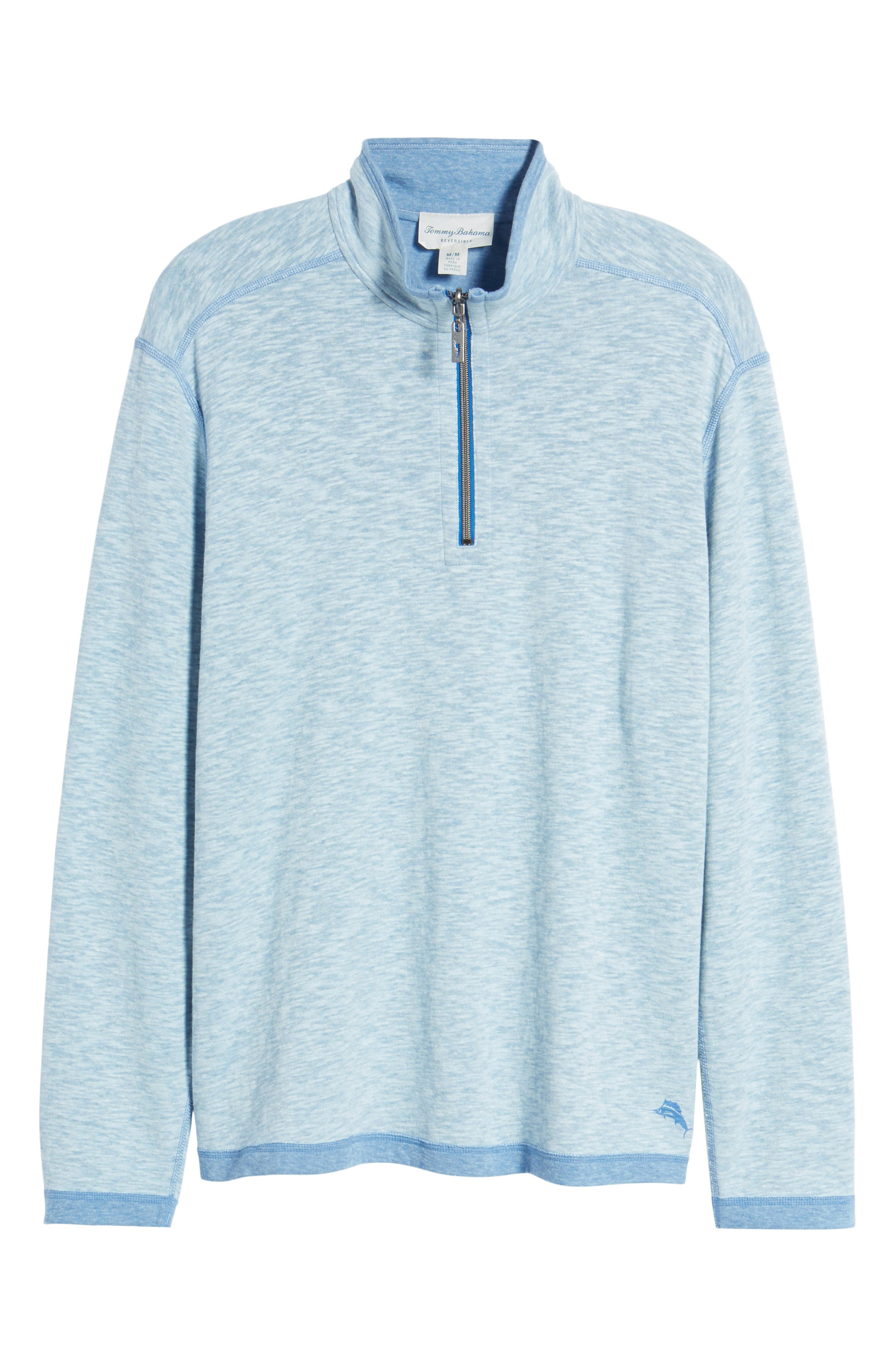 Sea Glass Reversible Quarter Zip Pullover,                             Alternate thumbnail 58, color,