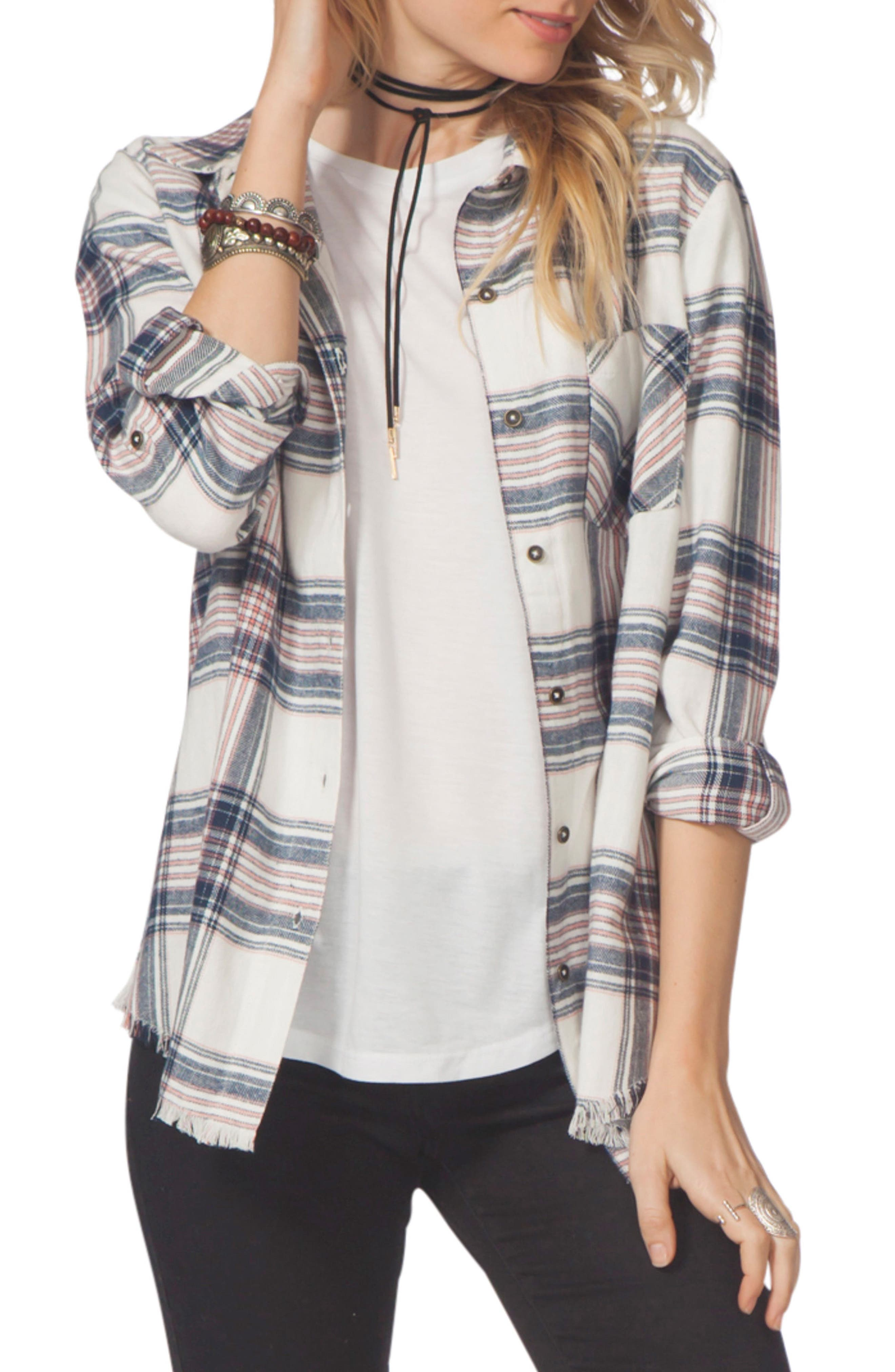 Open Skies Flannel Shirt,                         Main,                         color, 100