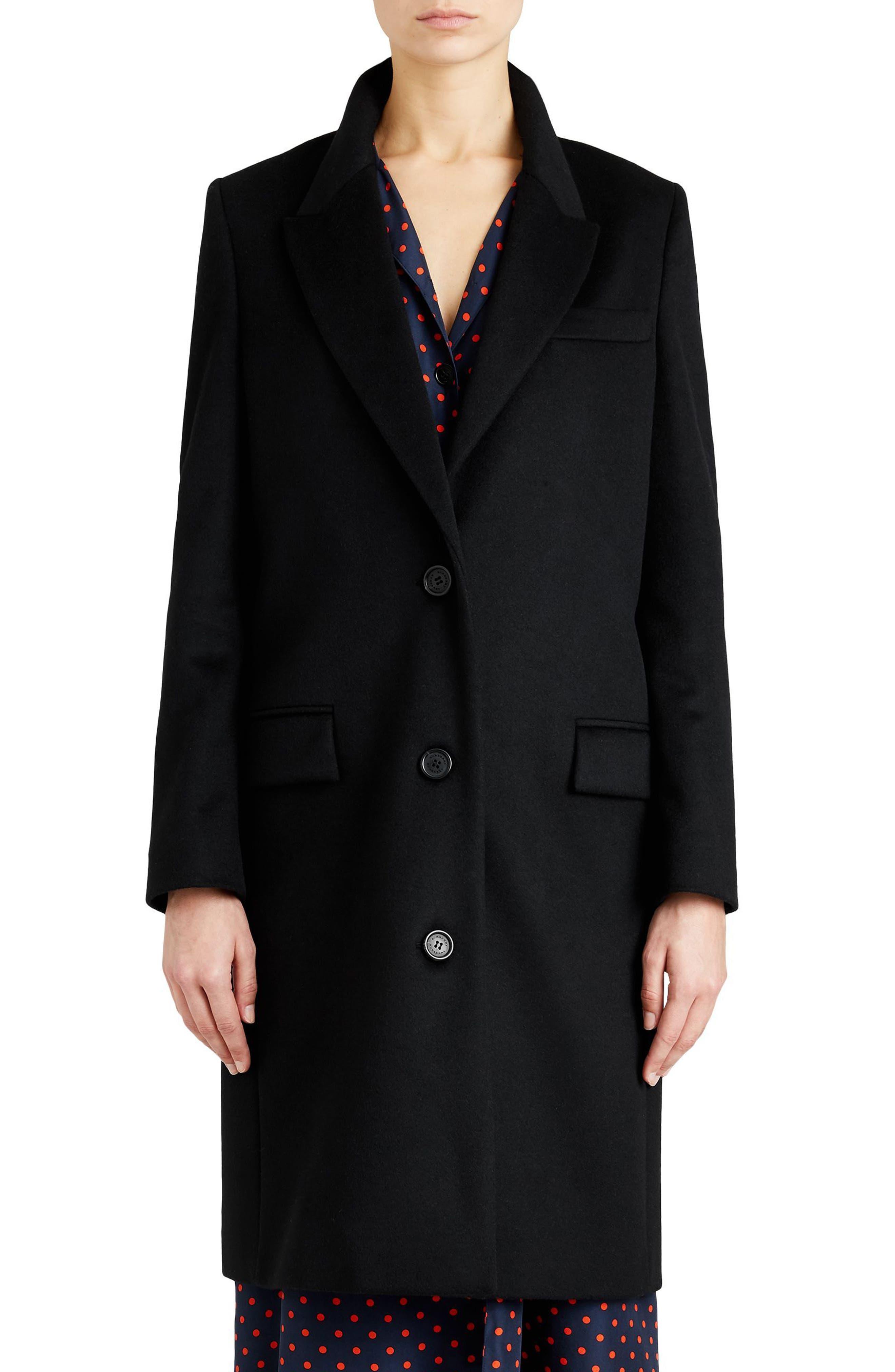 Fellhurst Wool & Cashmere Coat,                             Main thumbnail 1, color,                             001