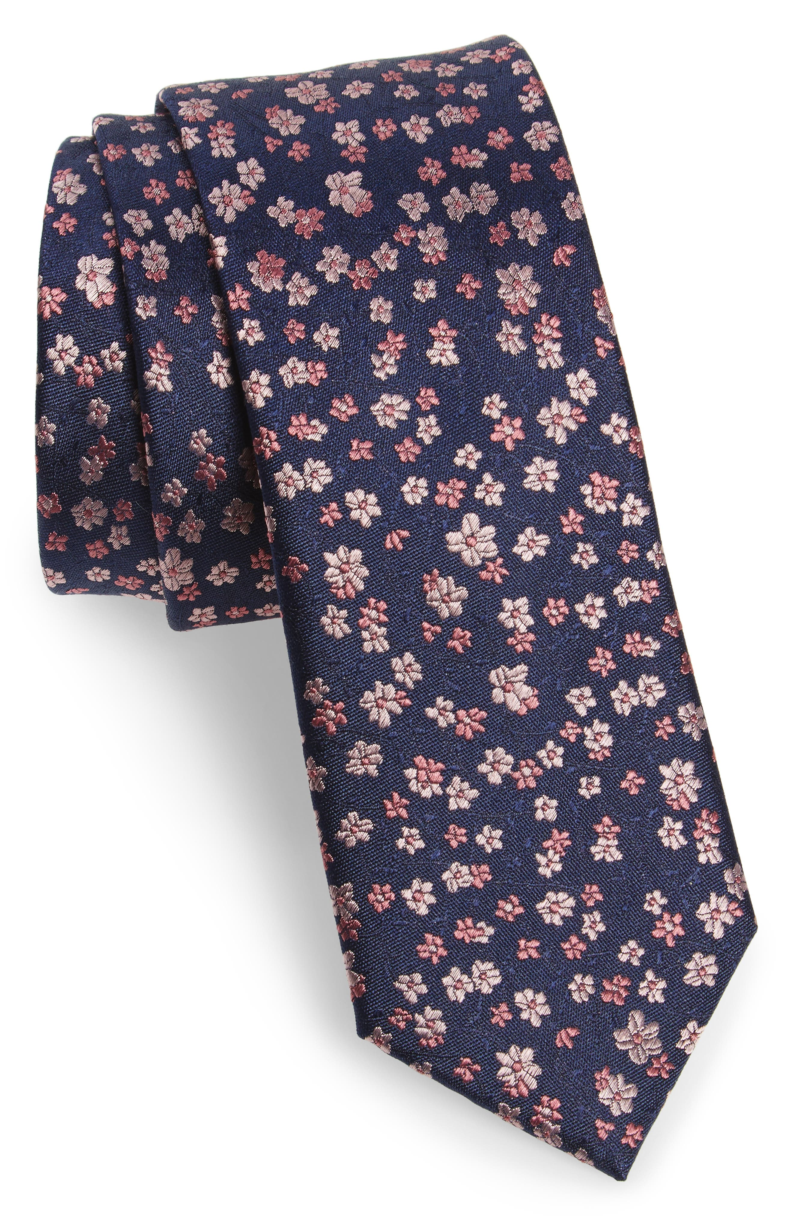 Freefall Floral Silk Tie,                             Main thumbnail 7, color,
