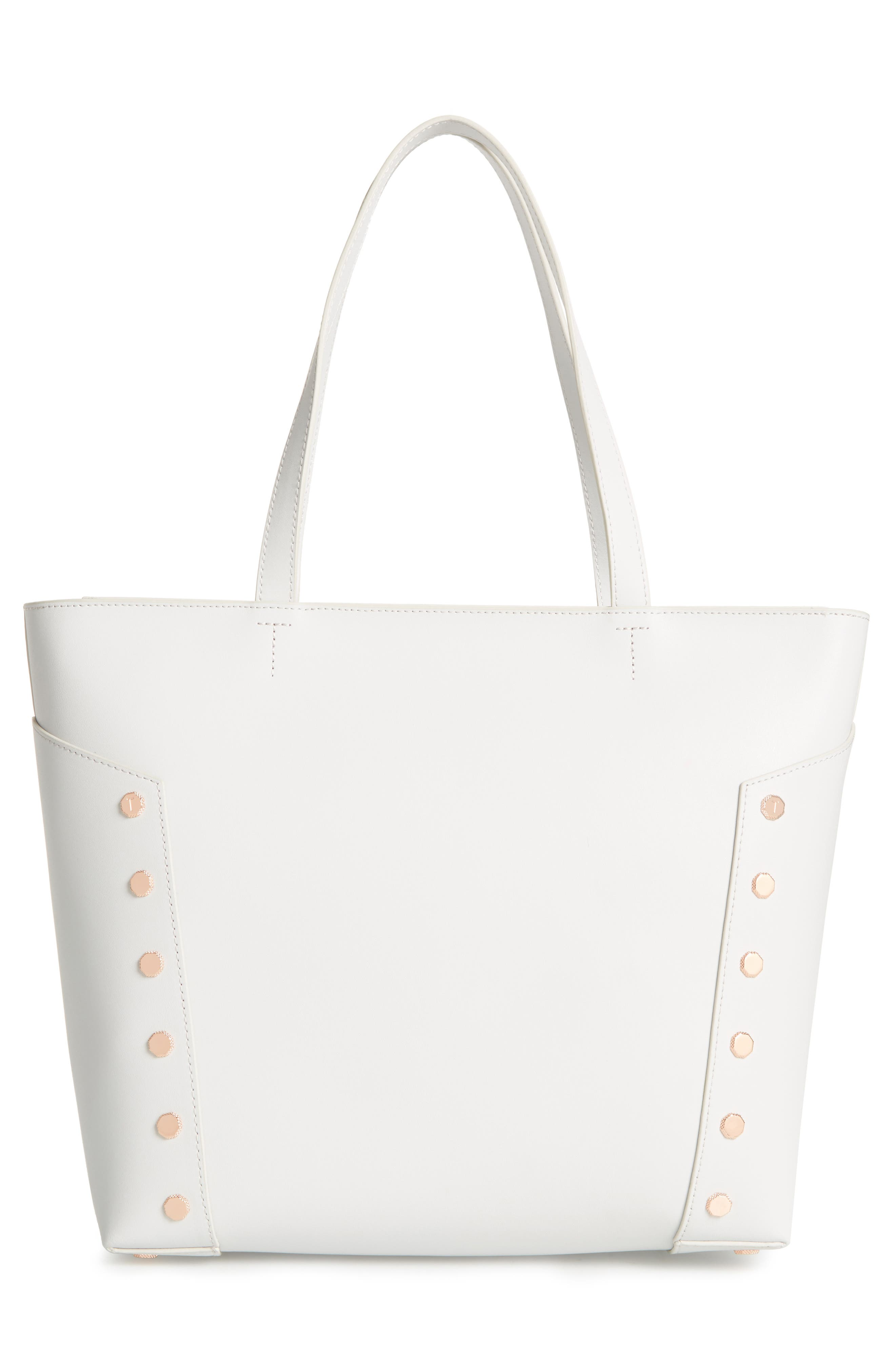 Tamiko Studded Leather Shopper,                             Alternate thumbnail 3, color,                             050