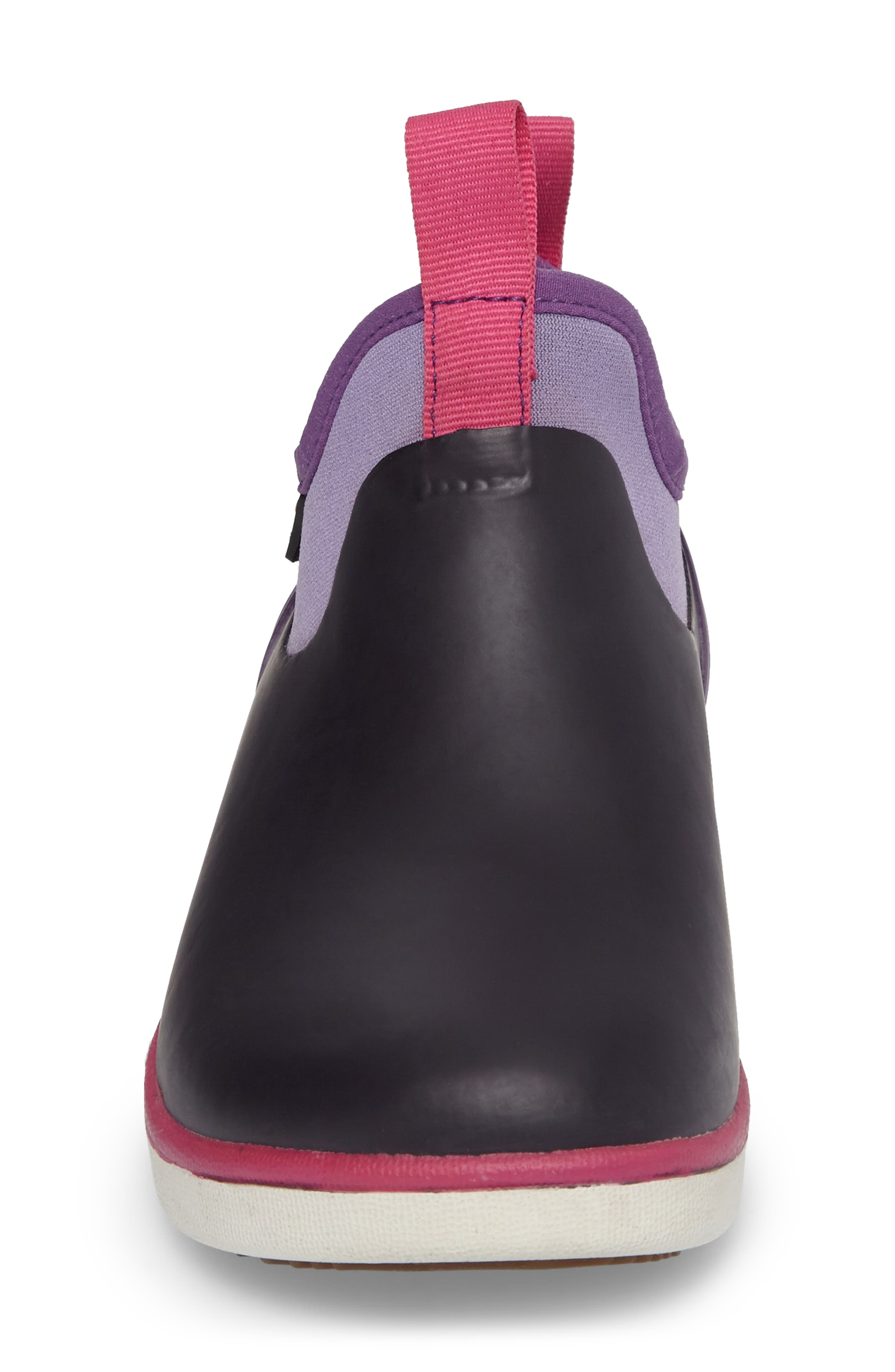 Riley Waterproof Sock Fit Boot,                             Alternate thumbnail 4, color,                             EGGPLANT MULTI