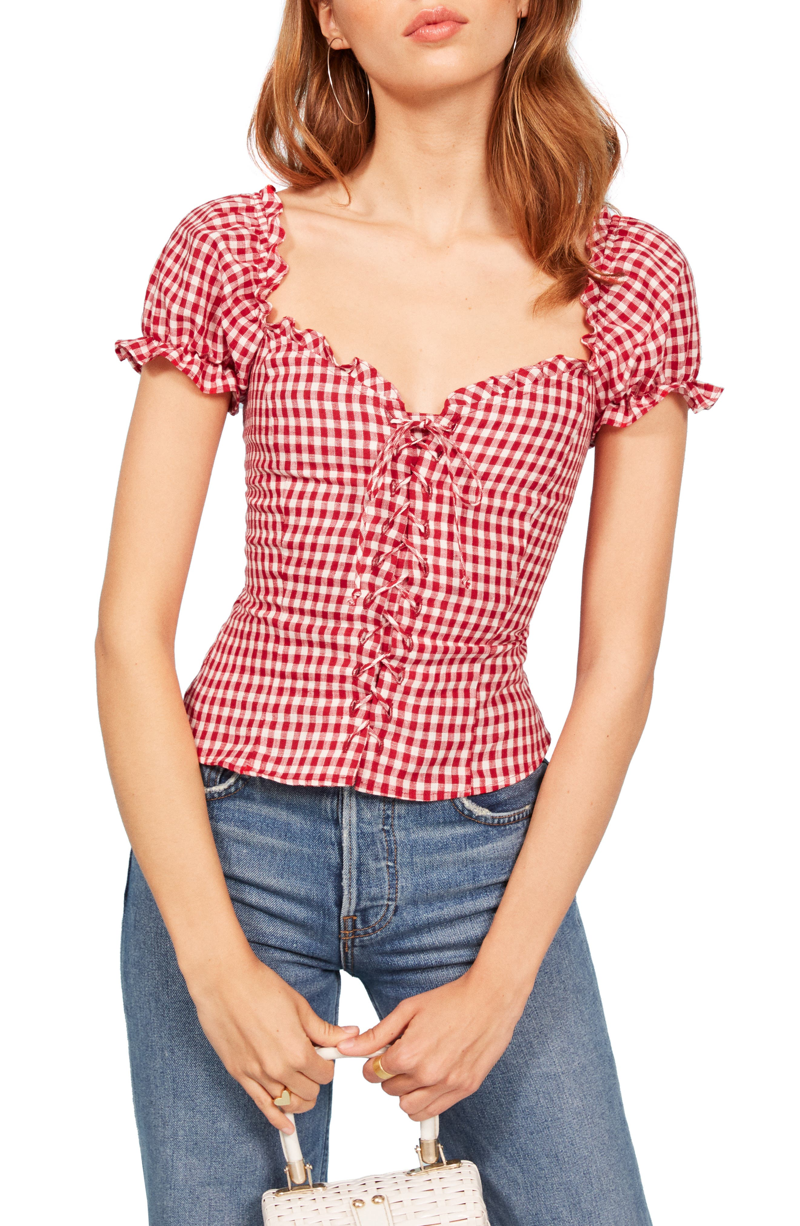 Cassidy Corset Top,                         Main,                         color, MAY CHECK