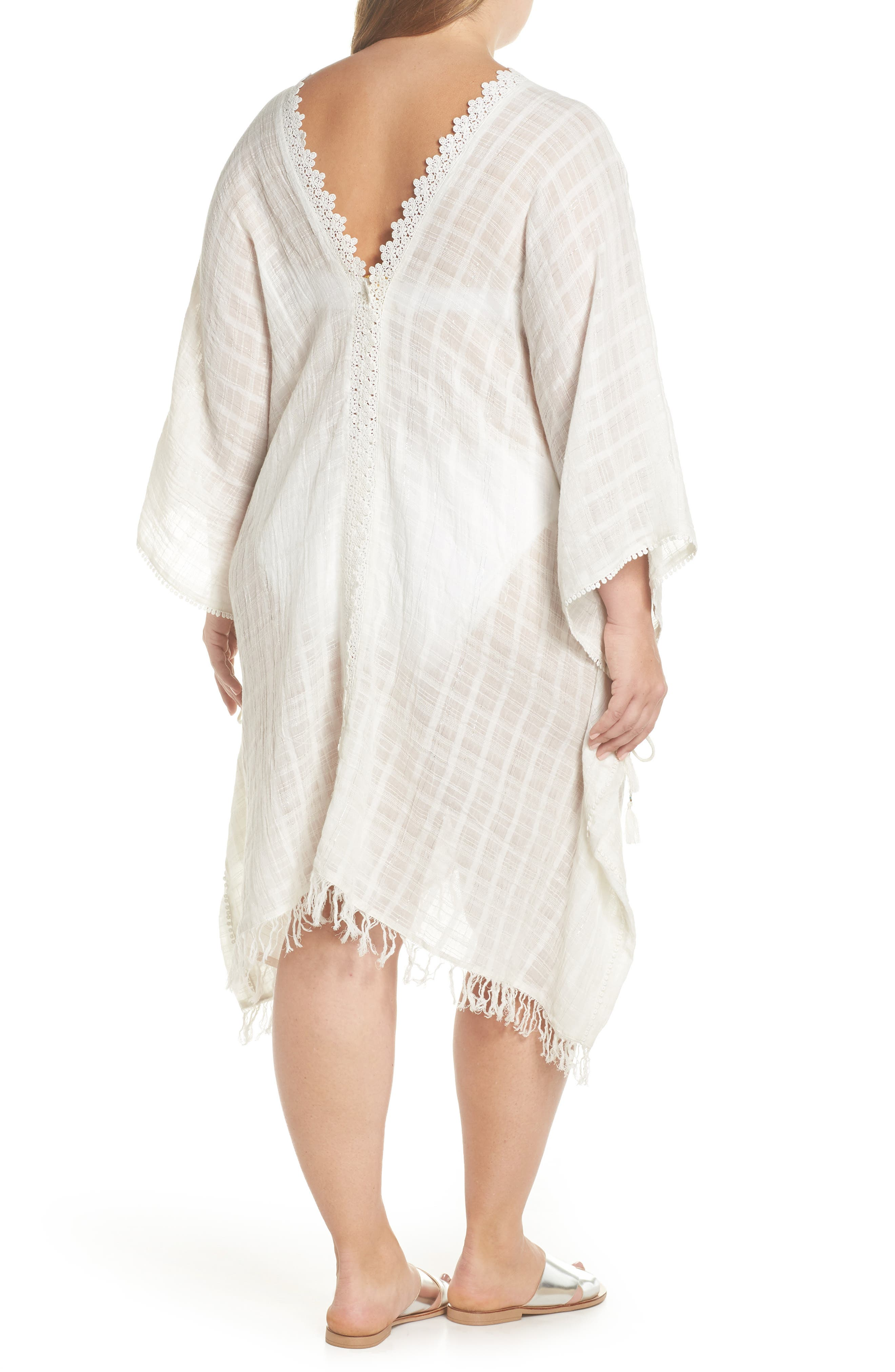 Serendipity Cover-Up Tunic,                             Alternate thumbnail 2, color,                             WHITE-SILVER
