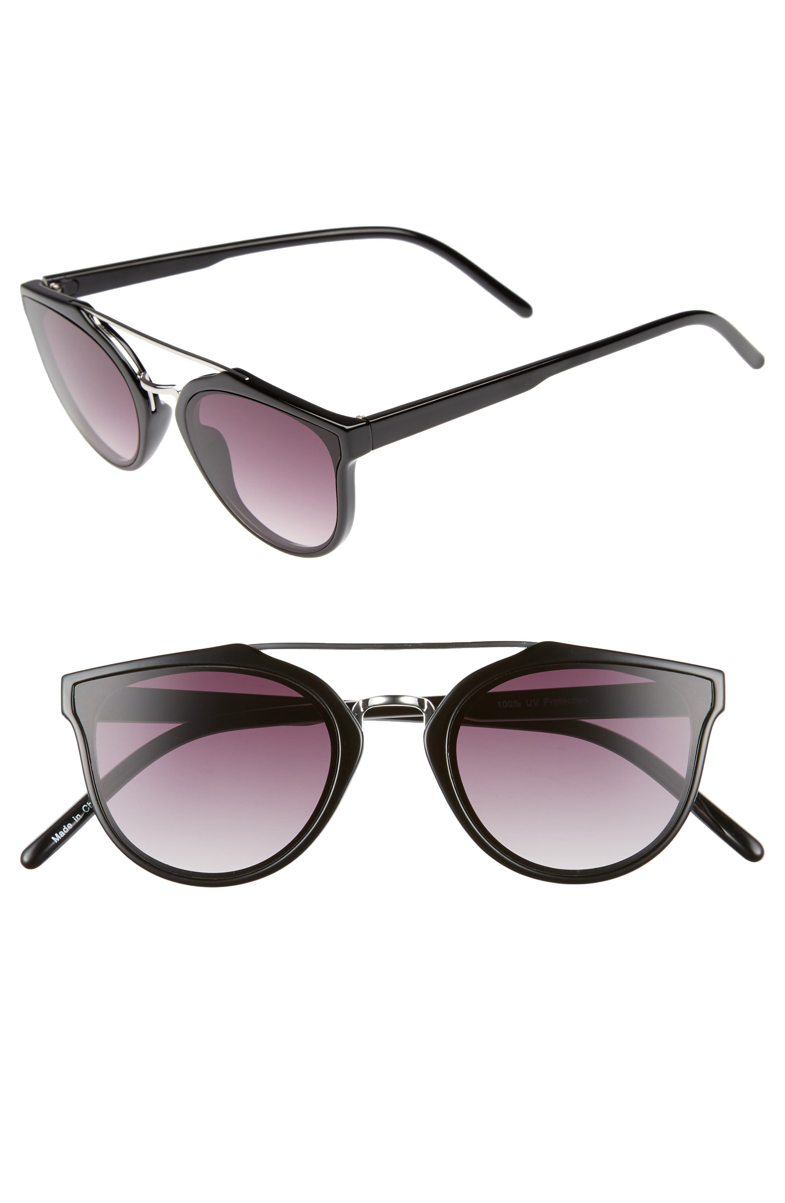 54mm Aviator Sunglasses,                             Main thumbnail 1, color,                             001