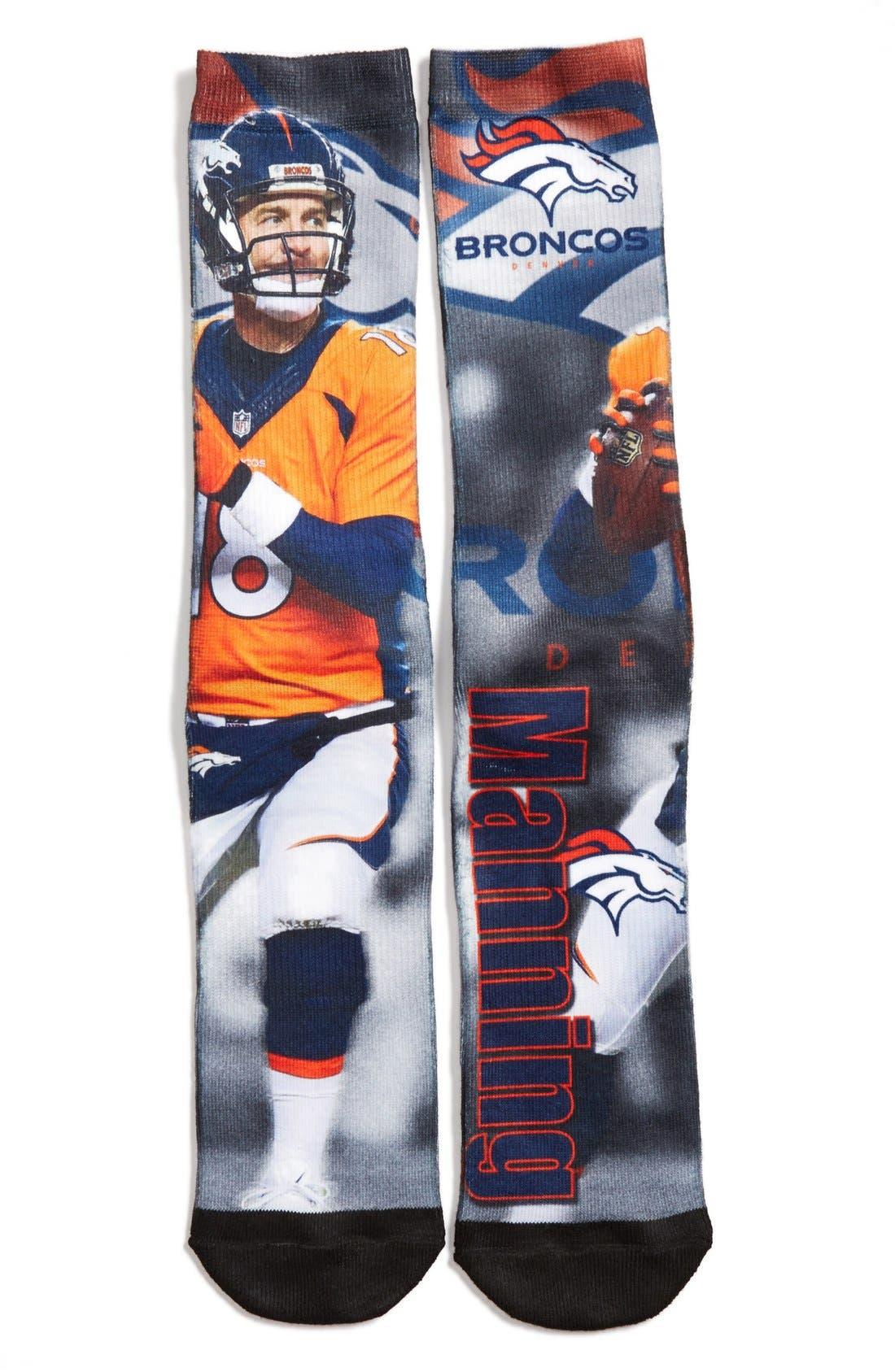 'Denver Broncos - Peyton Manning' Socks, Main, color, 001