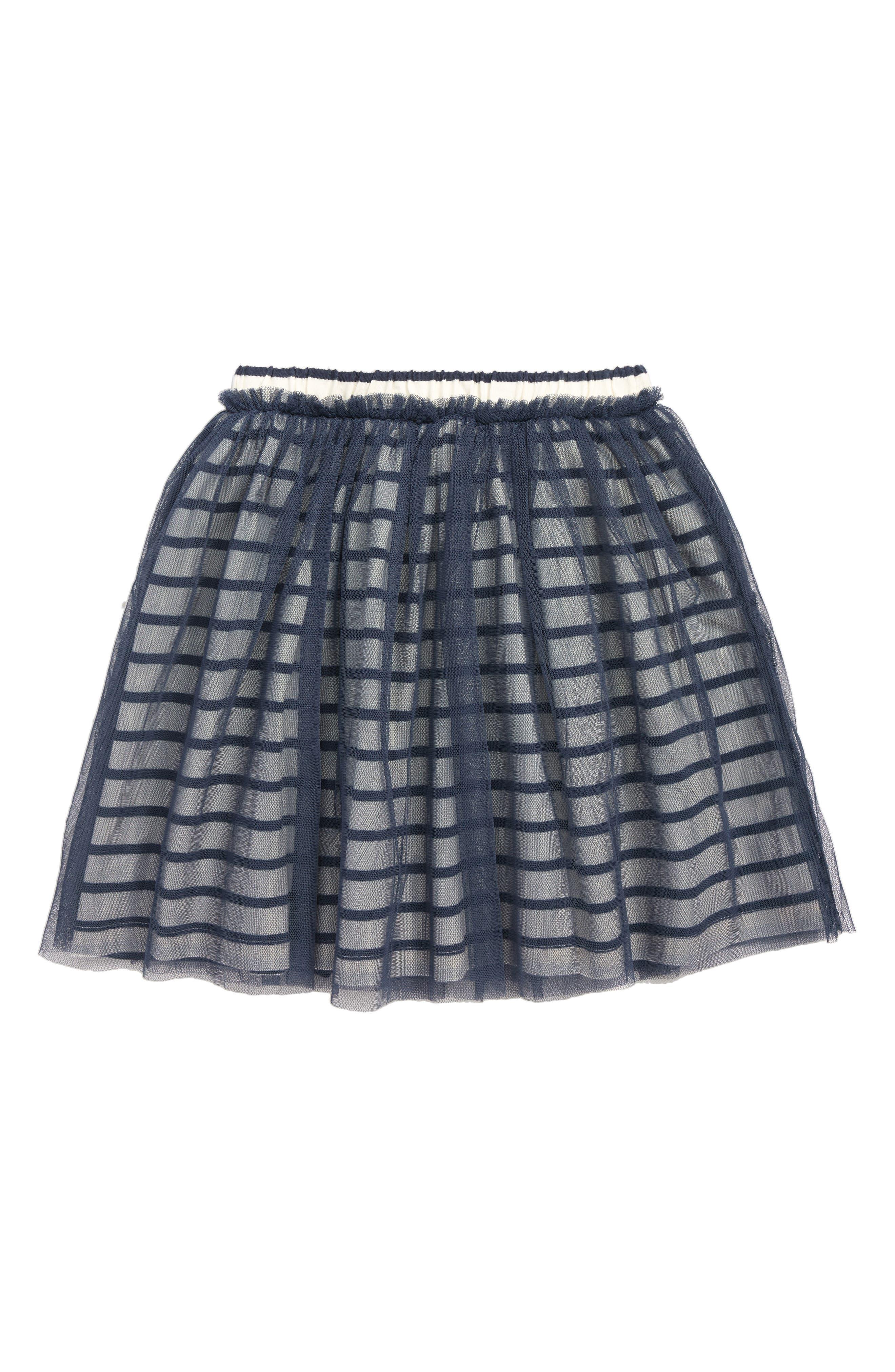 Stripe Tulle Skirt,                             Main thumbnail 1, color,                             INDIGO