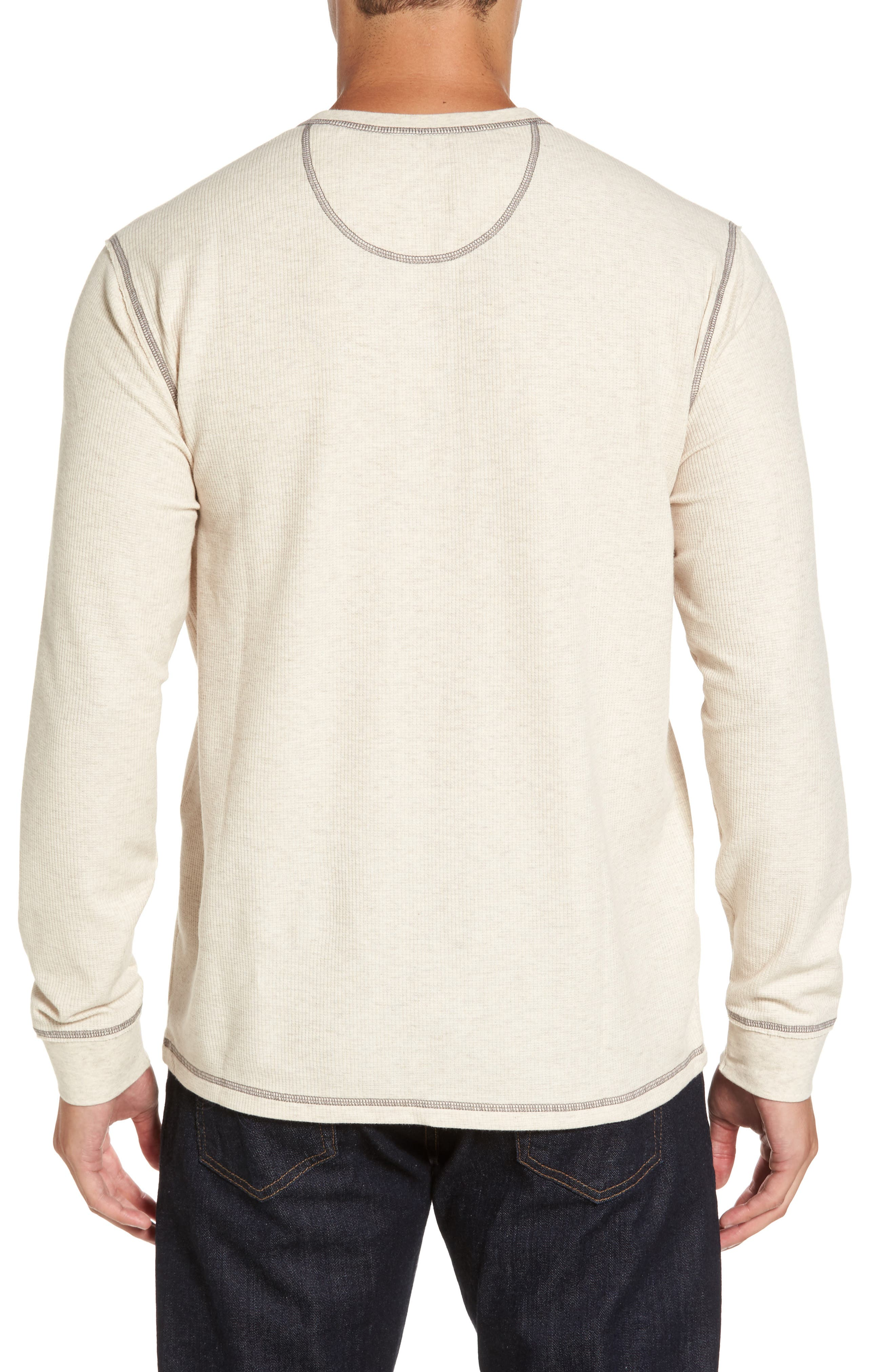 Island Thermal Standard Fit Thermal Henley,                             Alternate thumbnail 2, color,                             ABALONE HEATHER