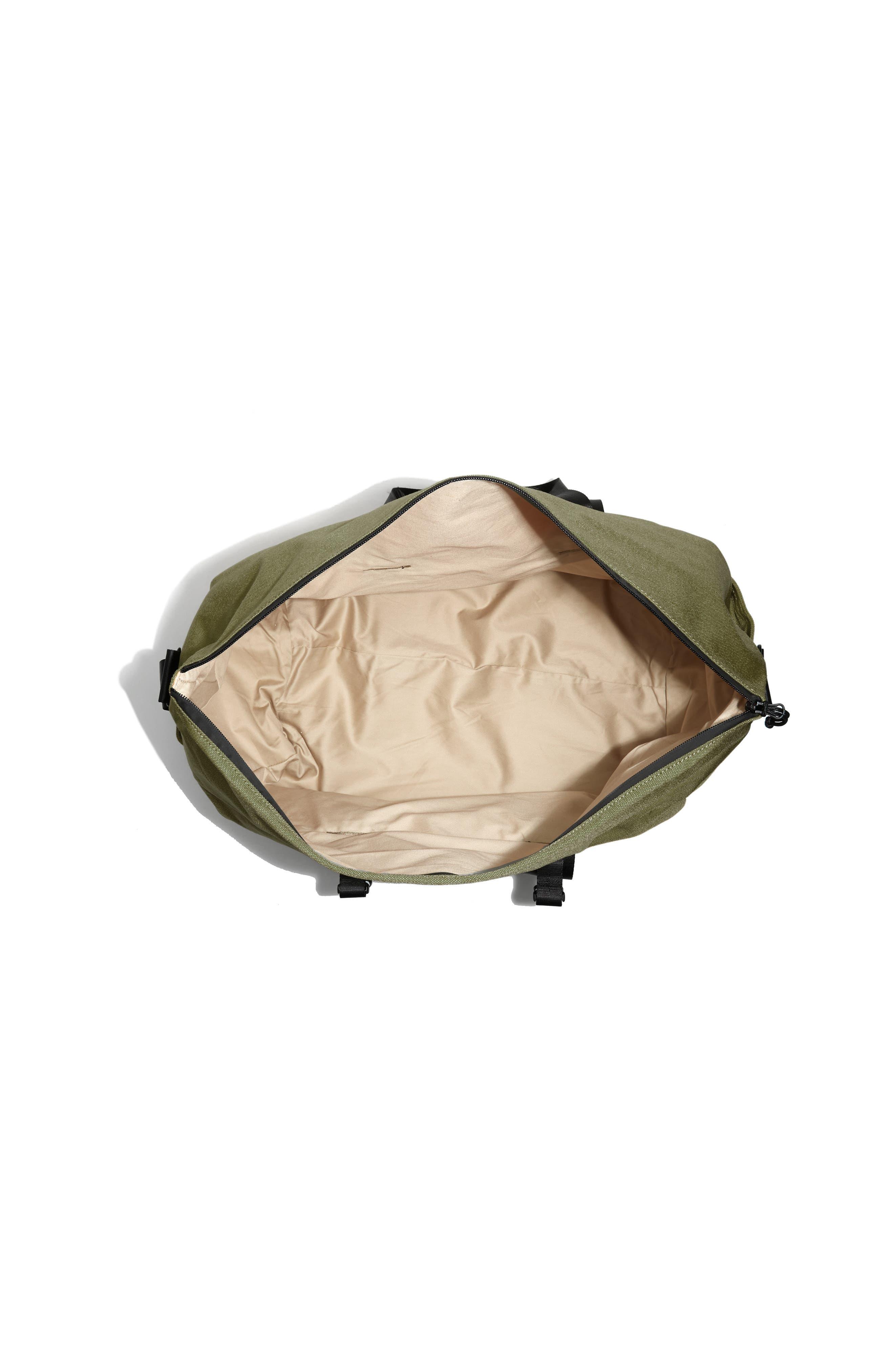 SWS 50L Roll Top Duffel Bag,                             Alternate thumbnail 4, color,                             OLIVE