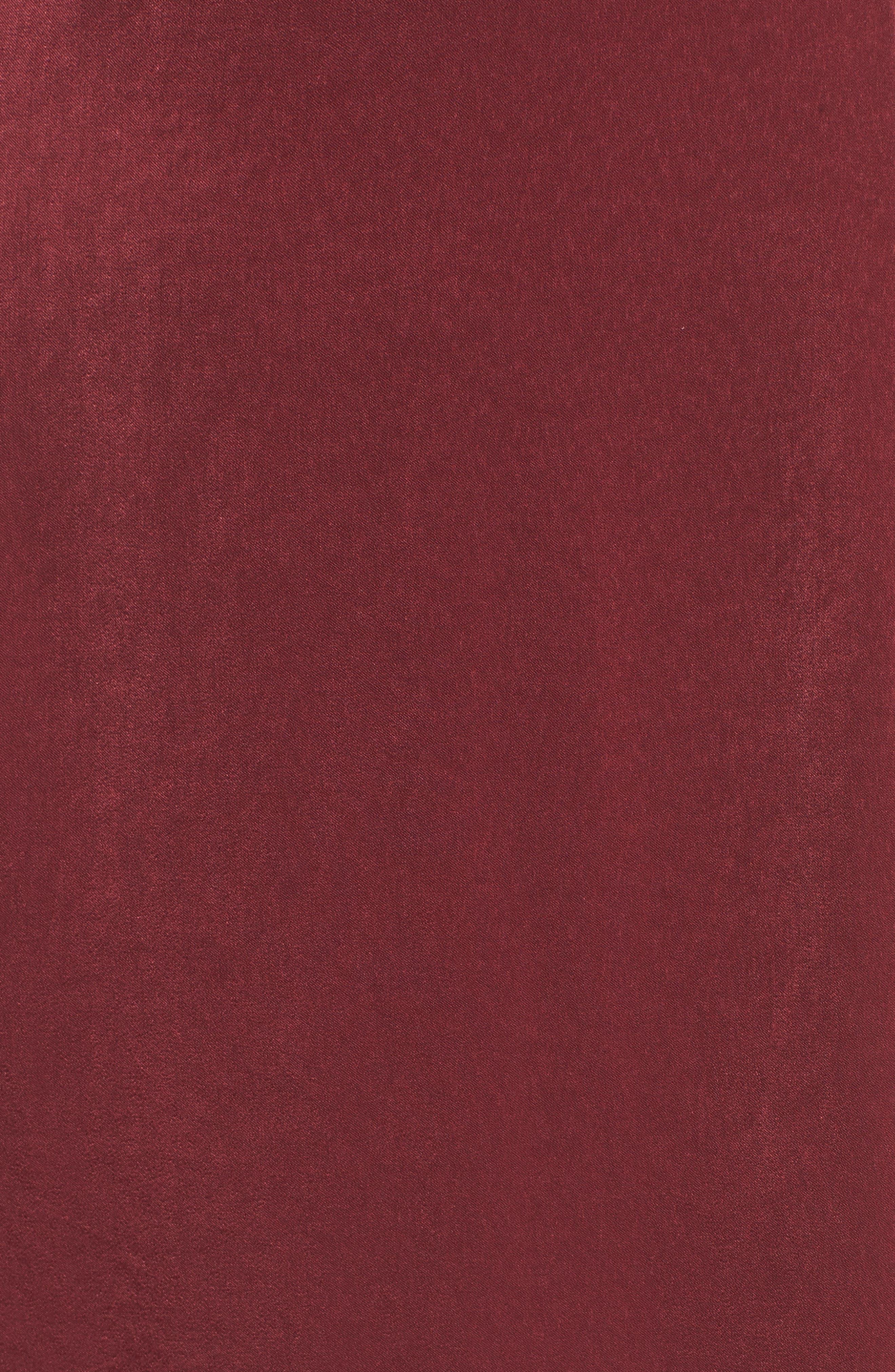 Ruffle Neck Satin Midi Dress,                             Alternate thumbnail 10, color,