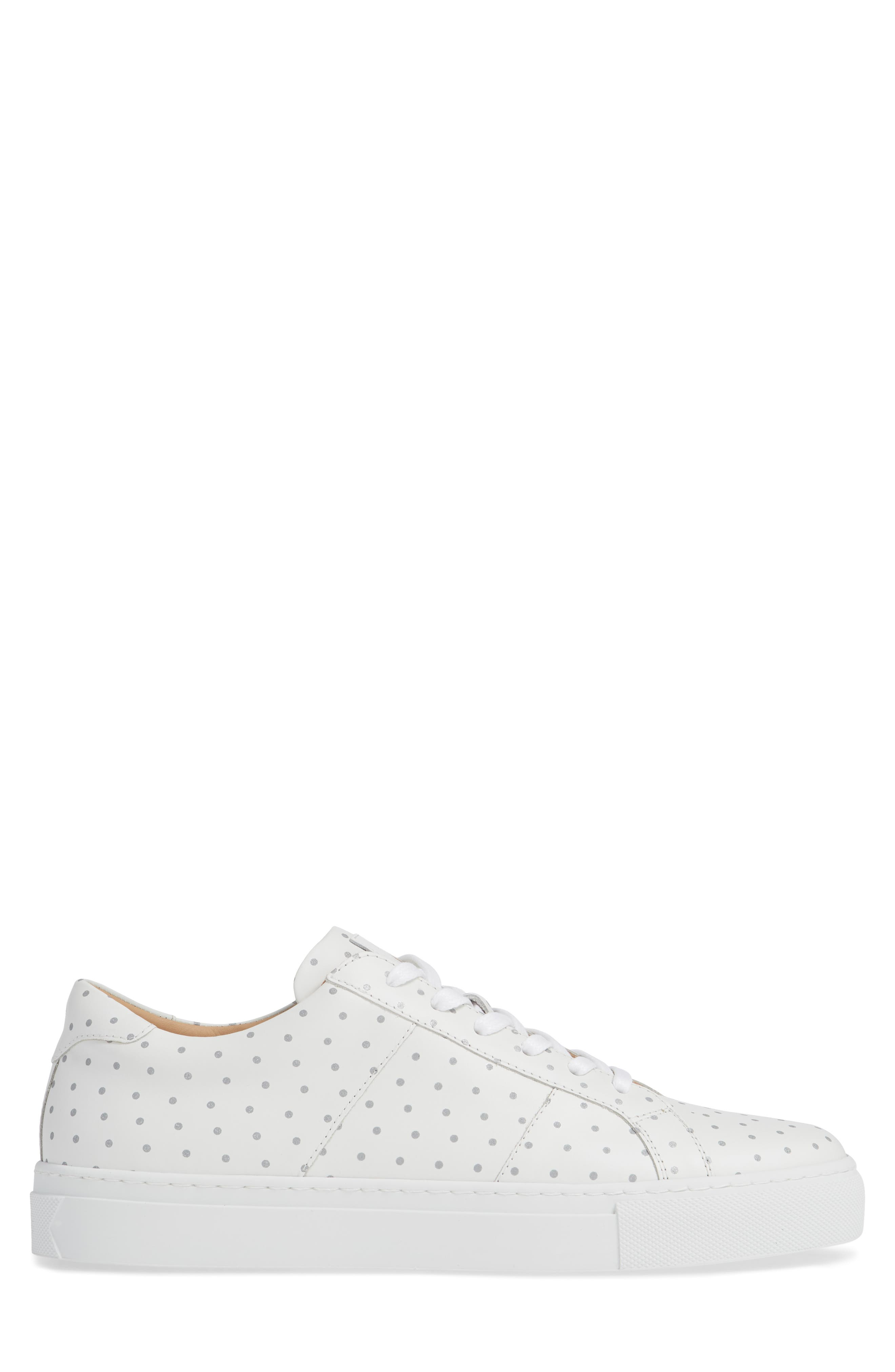 Nick Wooster x GREATS Royale Dots Low Top Sneaker,                             Alternate thumbnail 3, color,                             WHITE W/ 3M DOTS