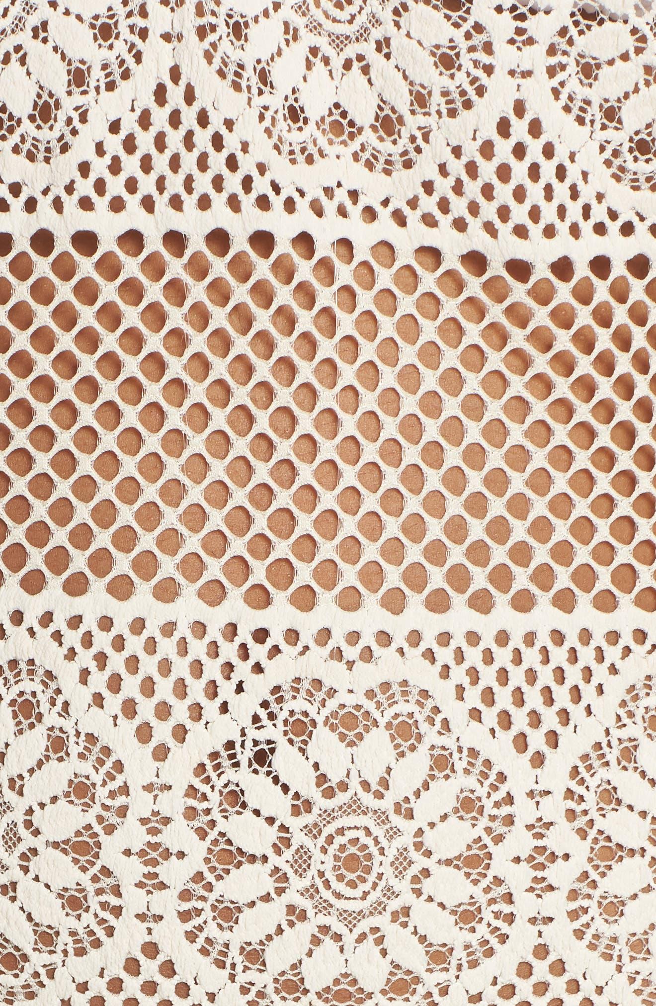 Joy Lace Cover-Up Dress,                             Alternate thumbnail 5, color,                             100