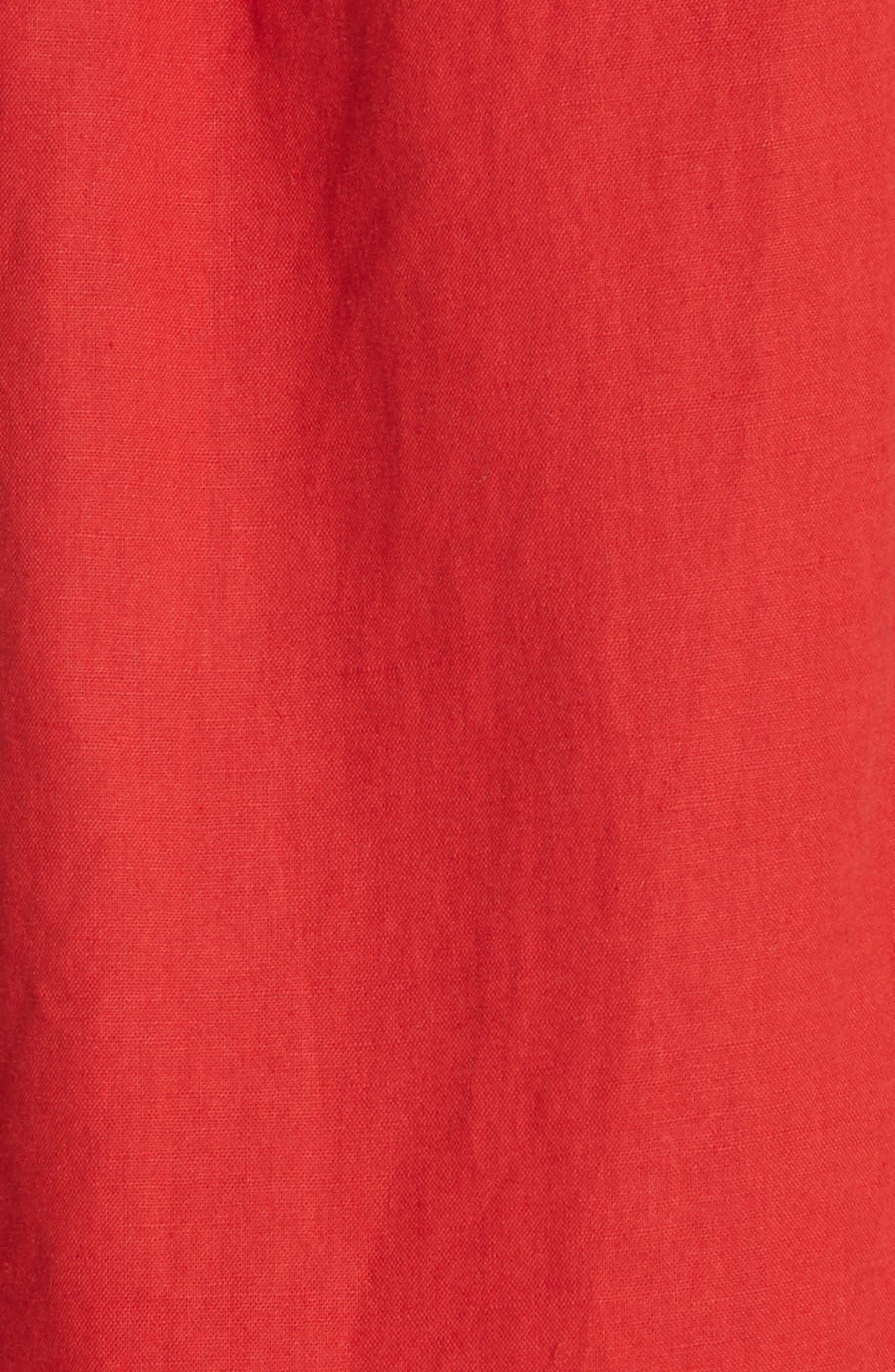 The Flutter Tulip Dress,                             Alternate thumbnail 5, color,                             POPPY