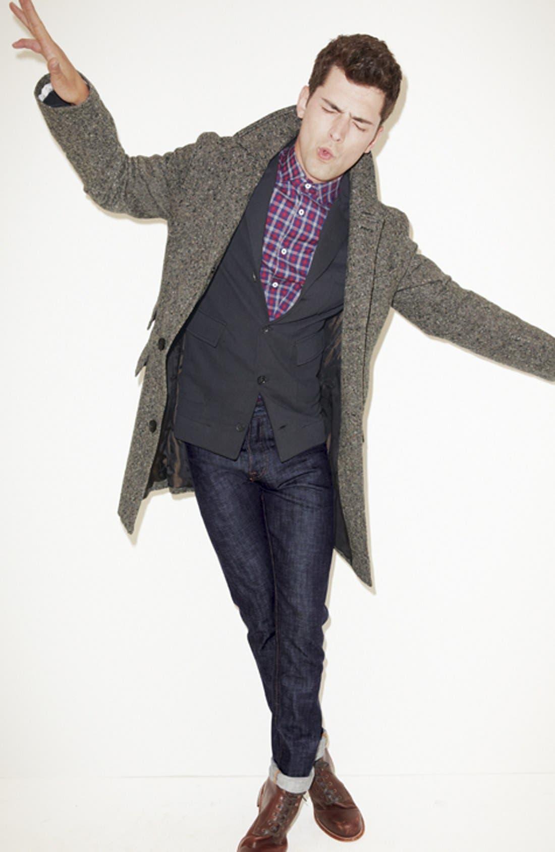 BILLY REID,                             'Astor' Tweed Overcoat,                             Alternate thumbnail 6, color,                             092