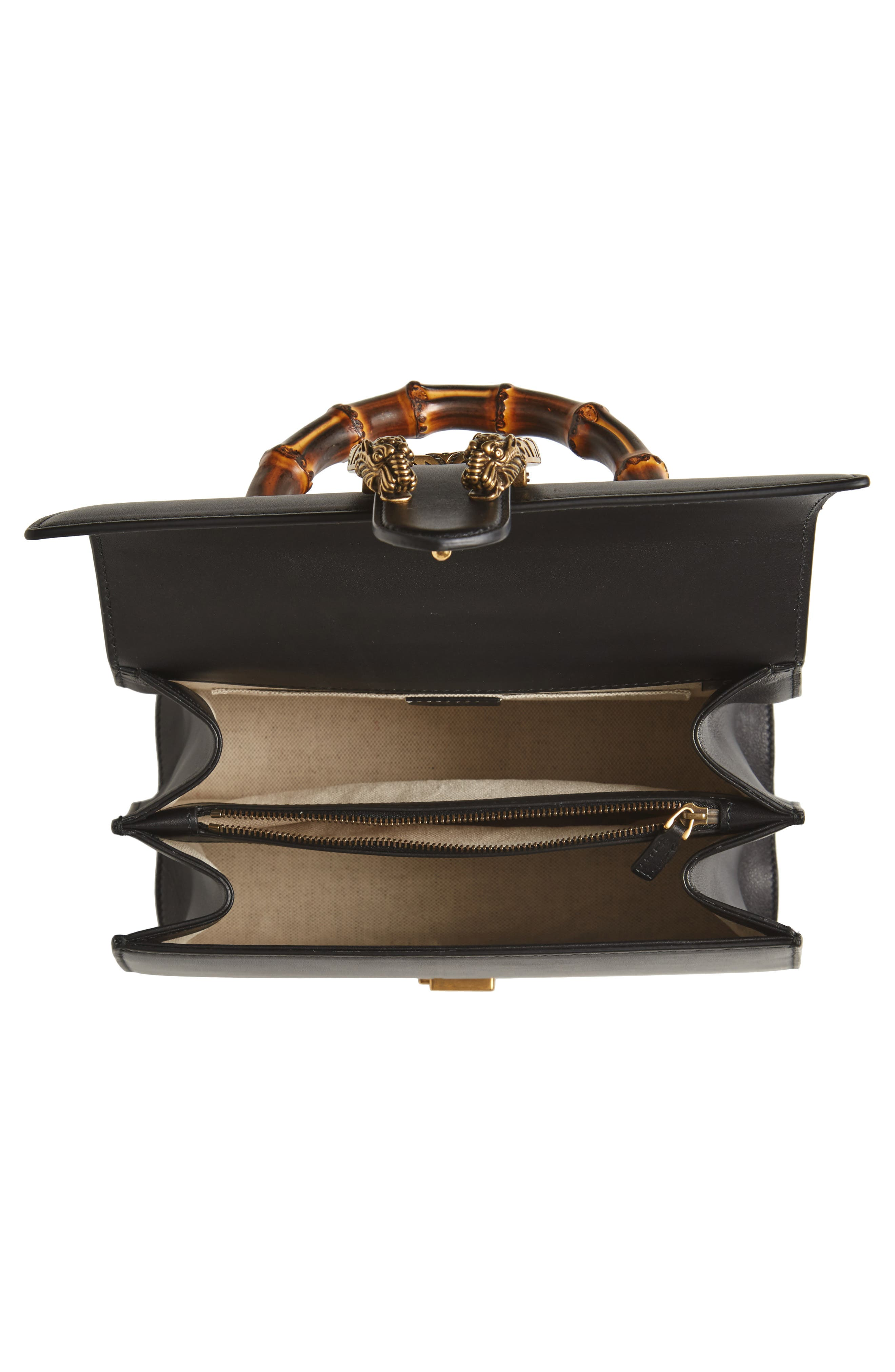 Large Dionysus Top Handle Leather Shoulder Bag,                             Alternate thumbnail 4, color,                             001