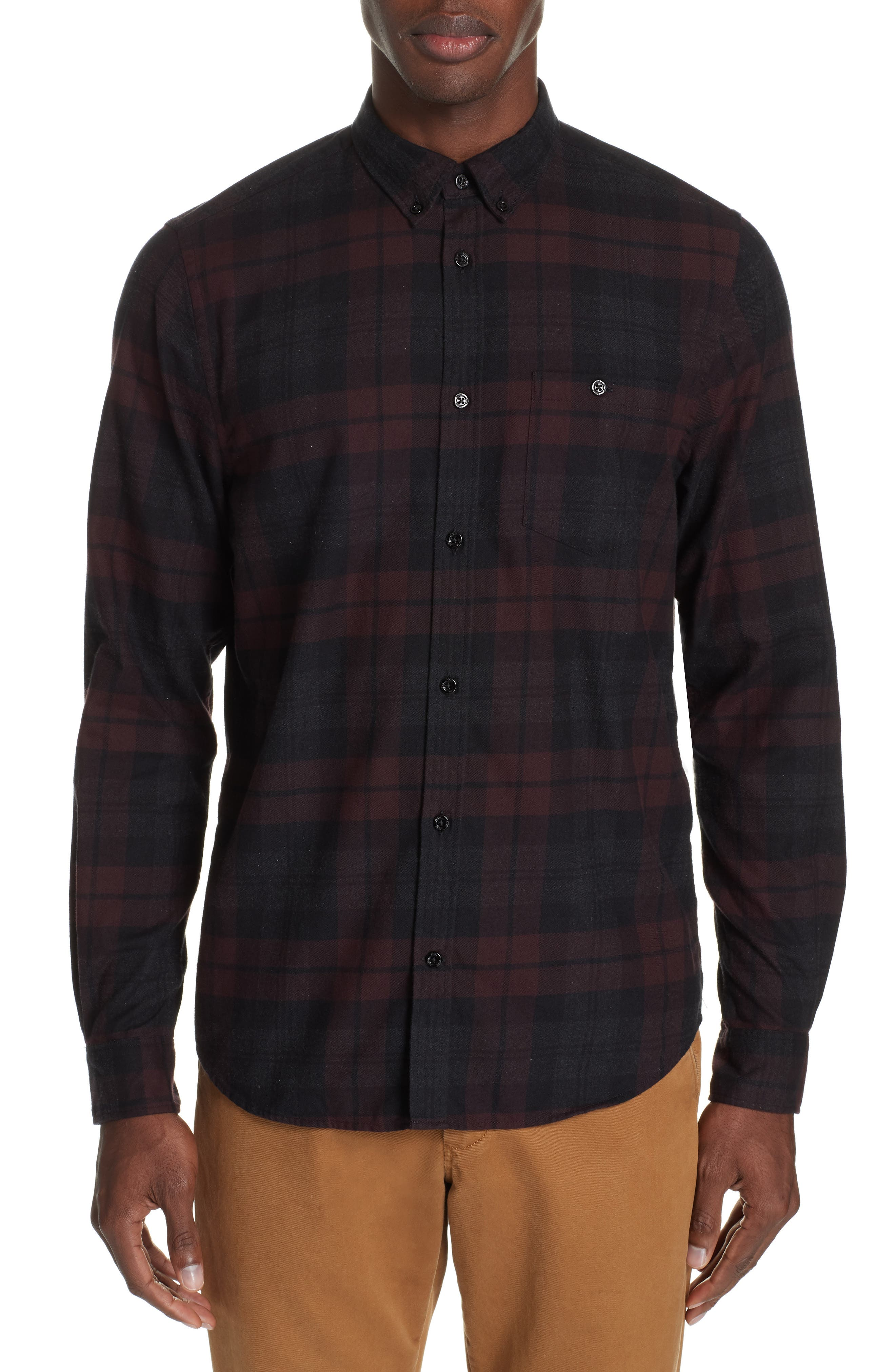 Anton Flannel Sport Shirt,                         Main,                         color, 200