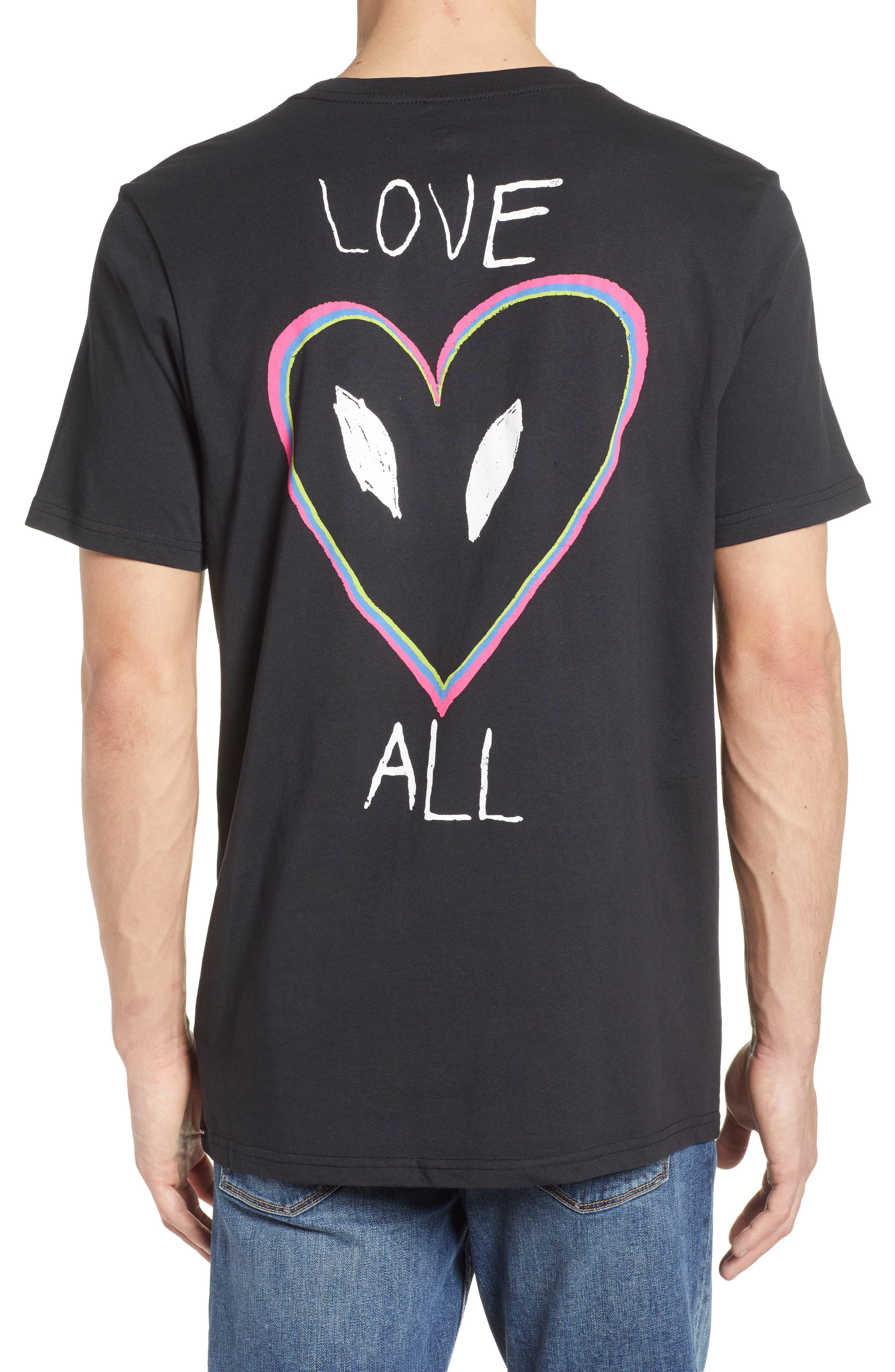 Love Graphic T-Shirt,                             Alternate thumbnail 3, color,