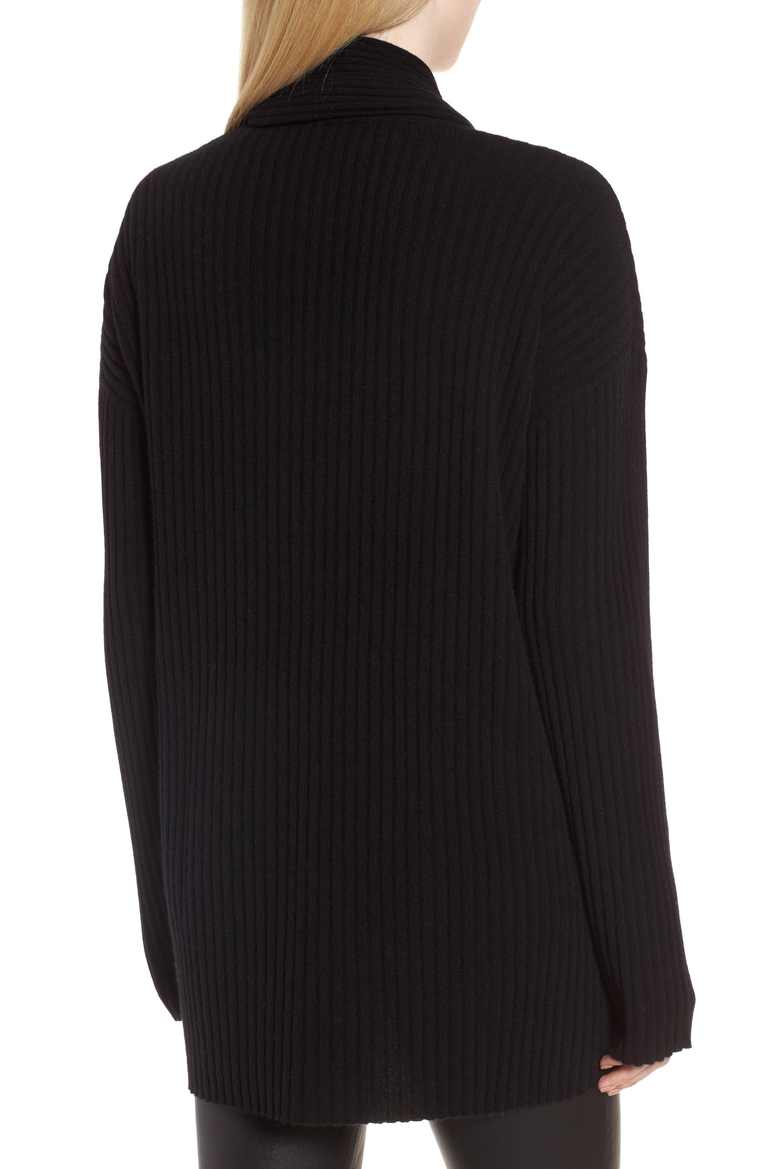 Rib Knit Cashmere Cardigan,                             Alternate thumbnail 2, color,                             002