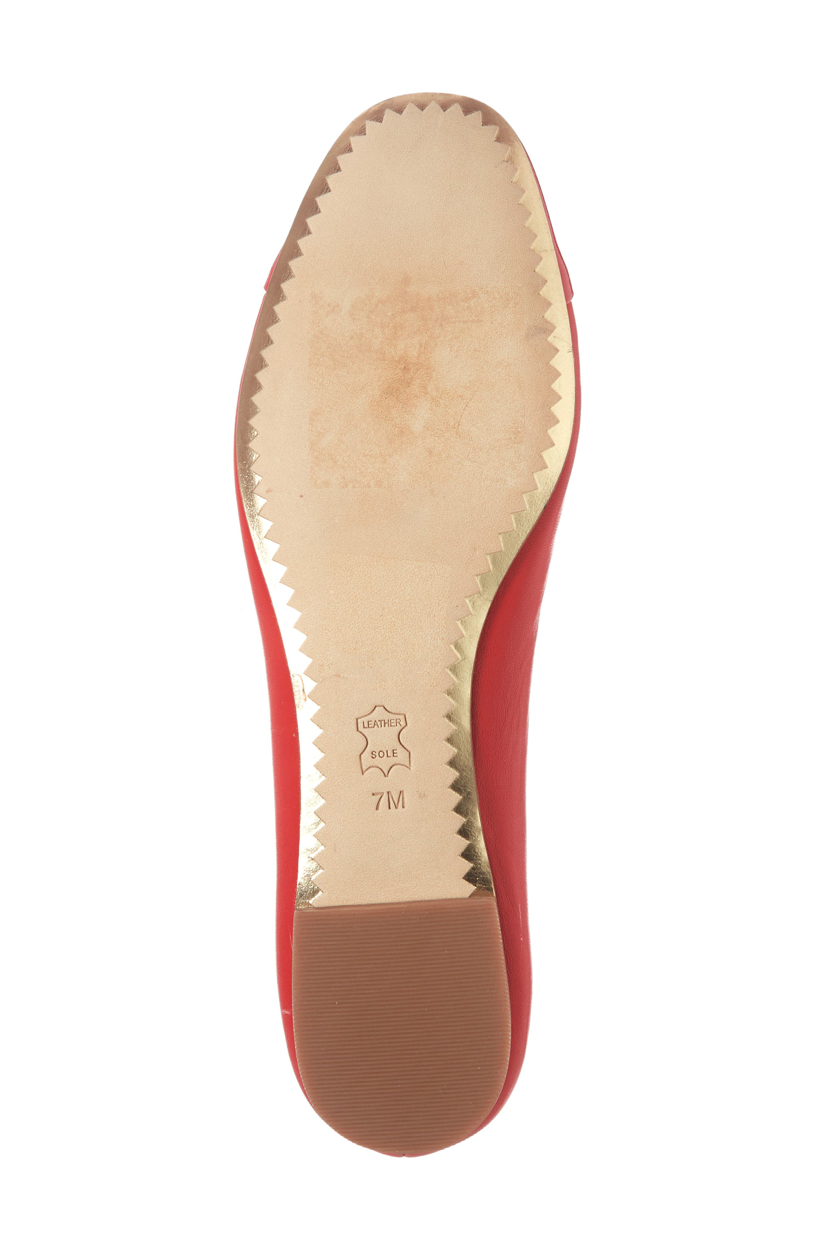 Chelsea Cap Toe Ballet Flat,                             Alternate thumbnail 6, color,                             BRILLIANT RED