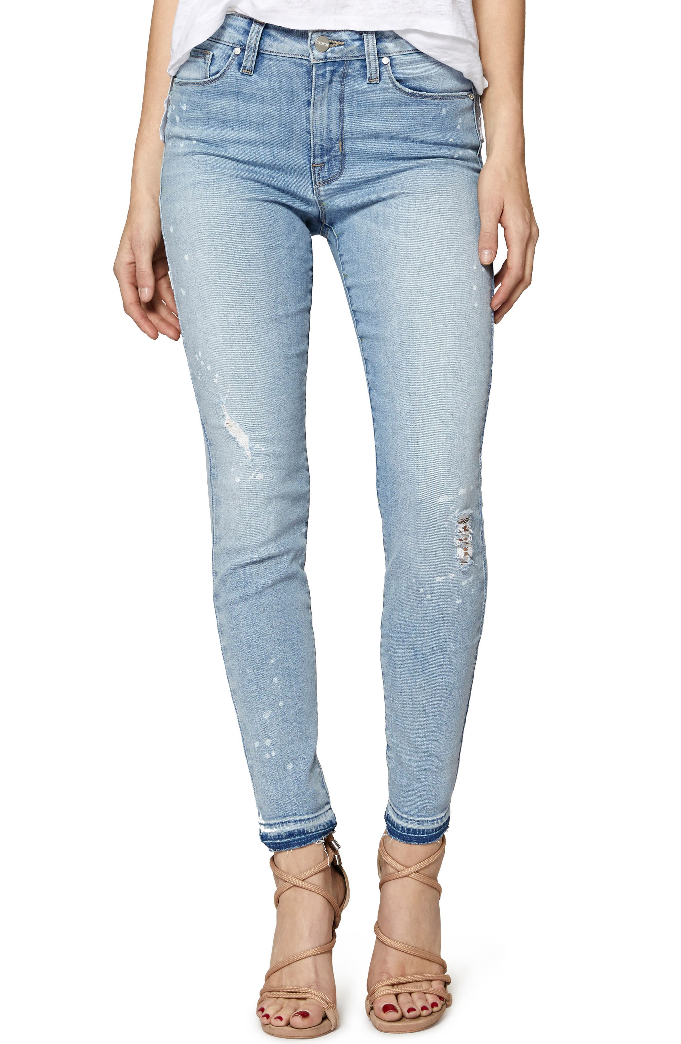 Saige Release Hem Jeans,                         Main,                         color,