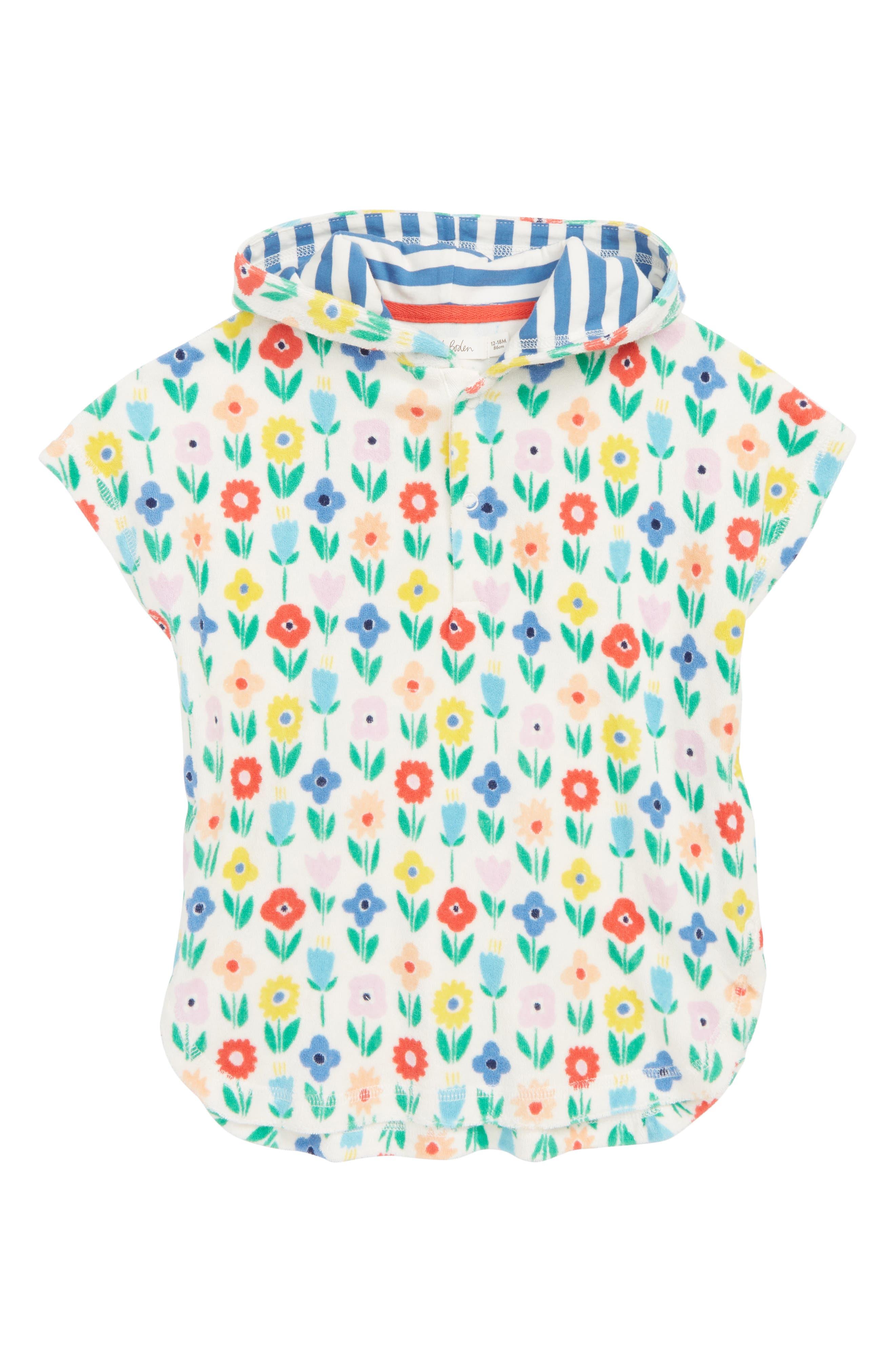 Infant Girls Mini Boden Hooded CoverUp