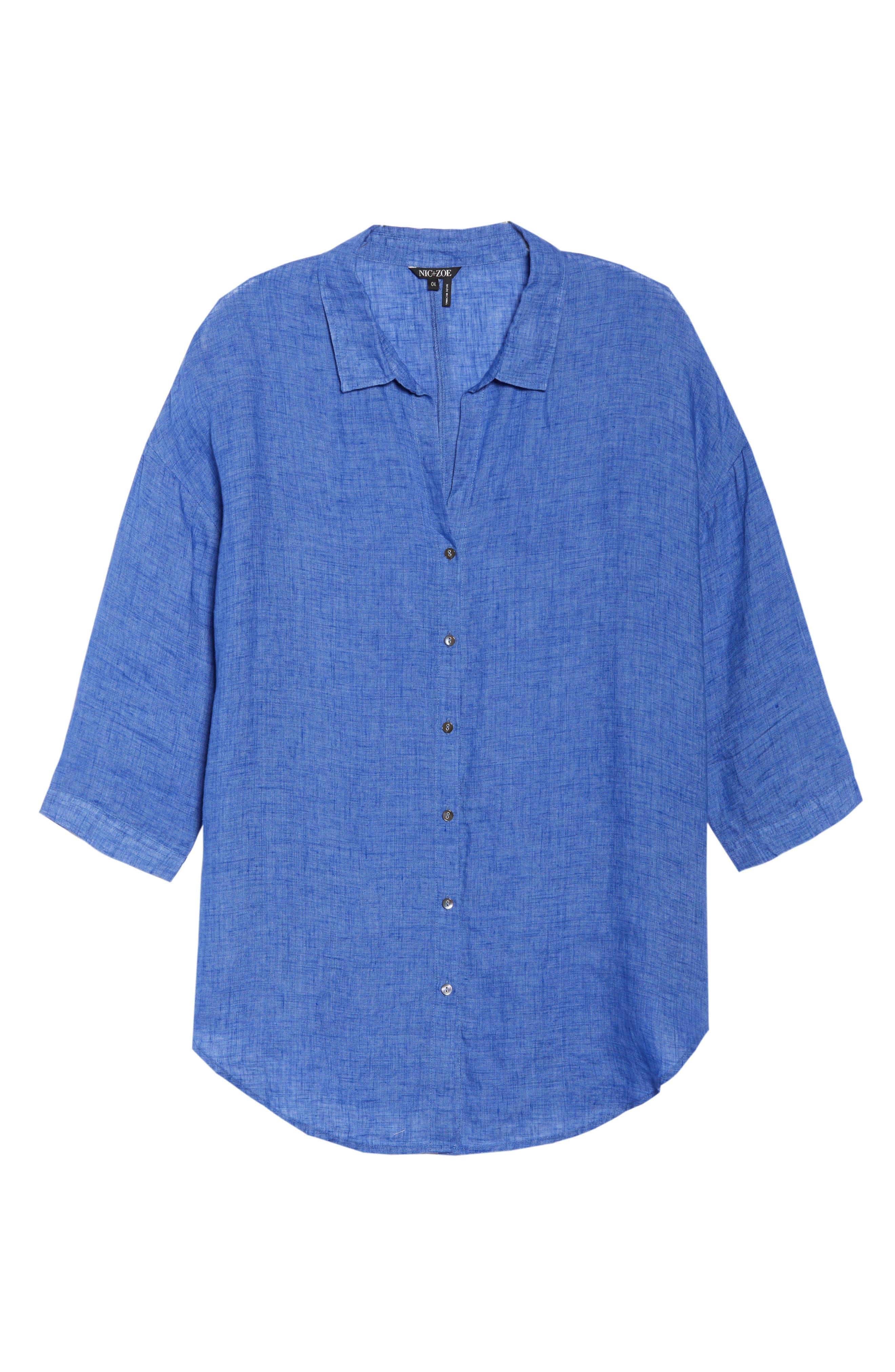 Joy Ride Linen Tunic Top,                             Alternate thumbnail 7, color,