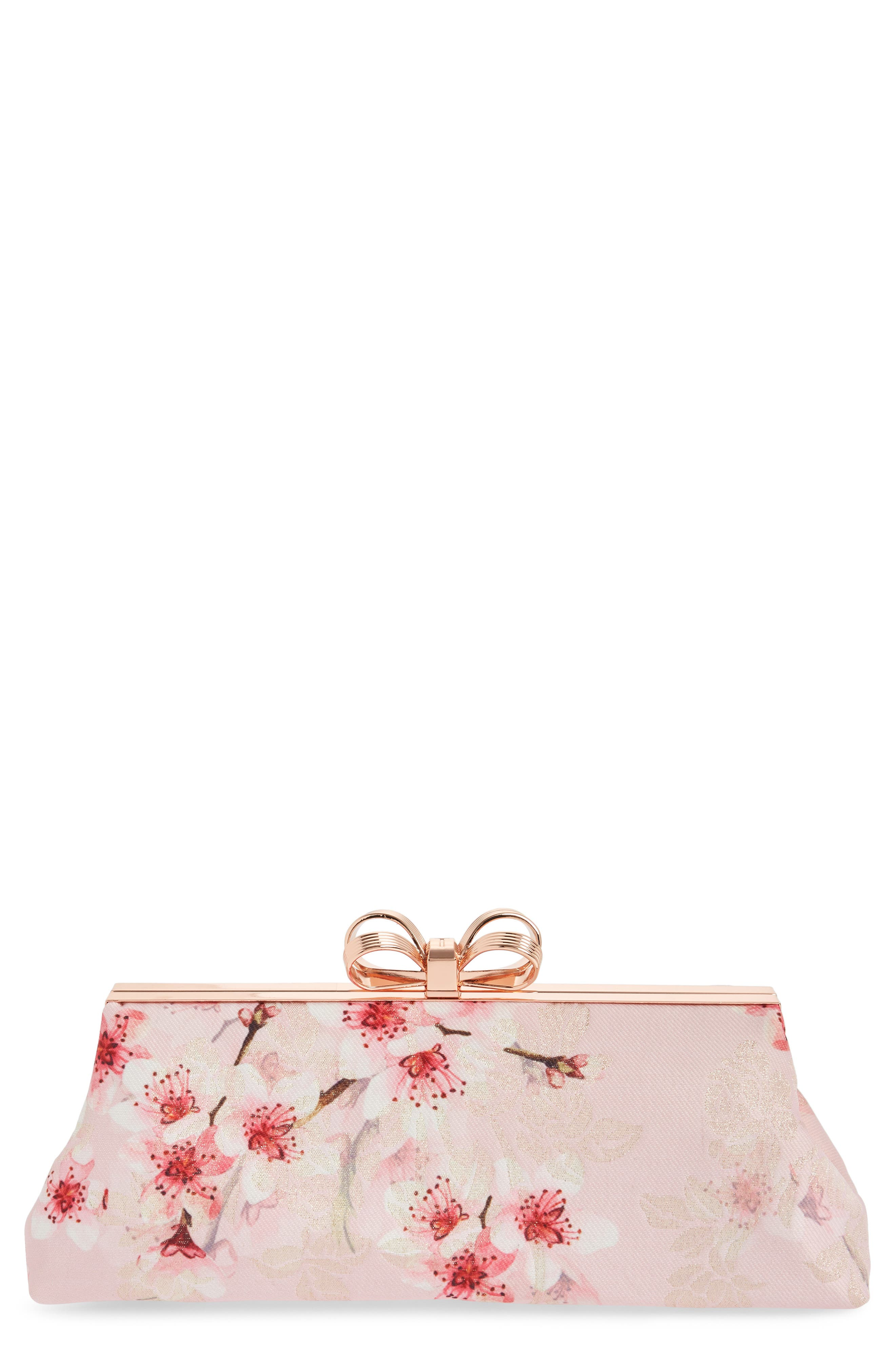 Diona Glitter Frame Evening Clutch,                             Main thumbnail 1, color,