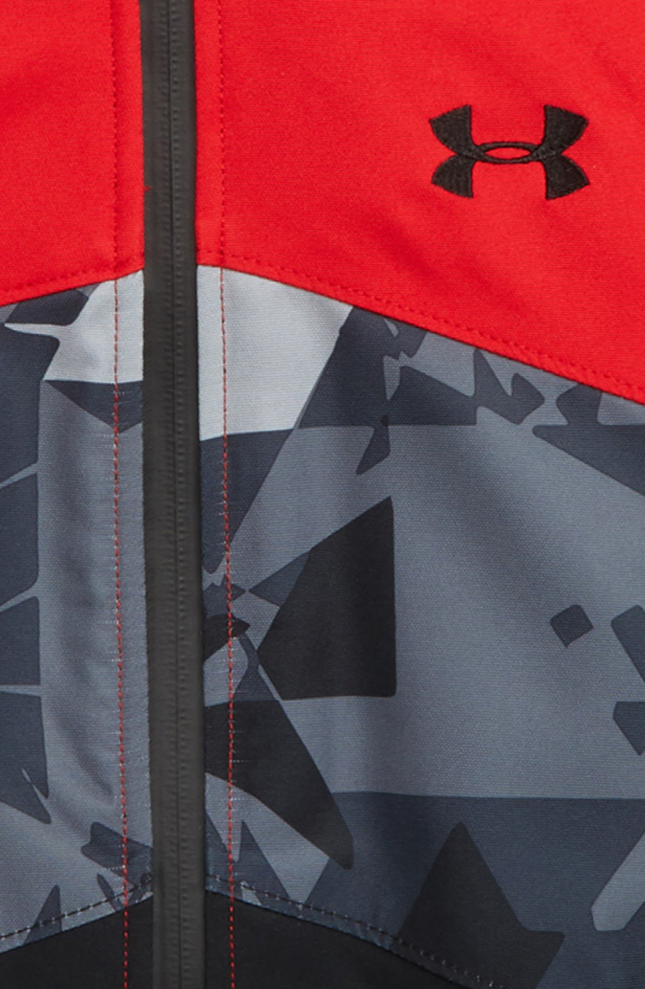 Zumatrek Water Repellent ColdGear<sup>®</sup> Hooded Jacket,                             Alternate thumbnail 2, color,                             RED