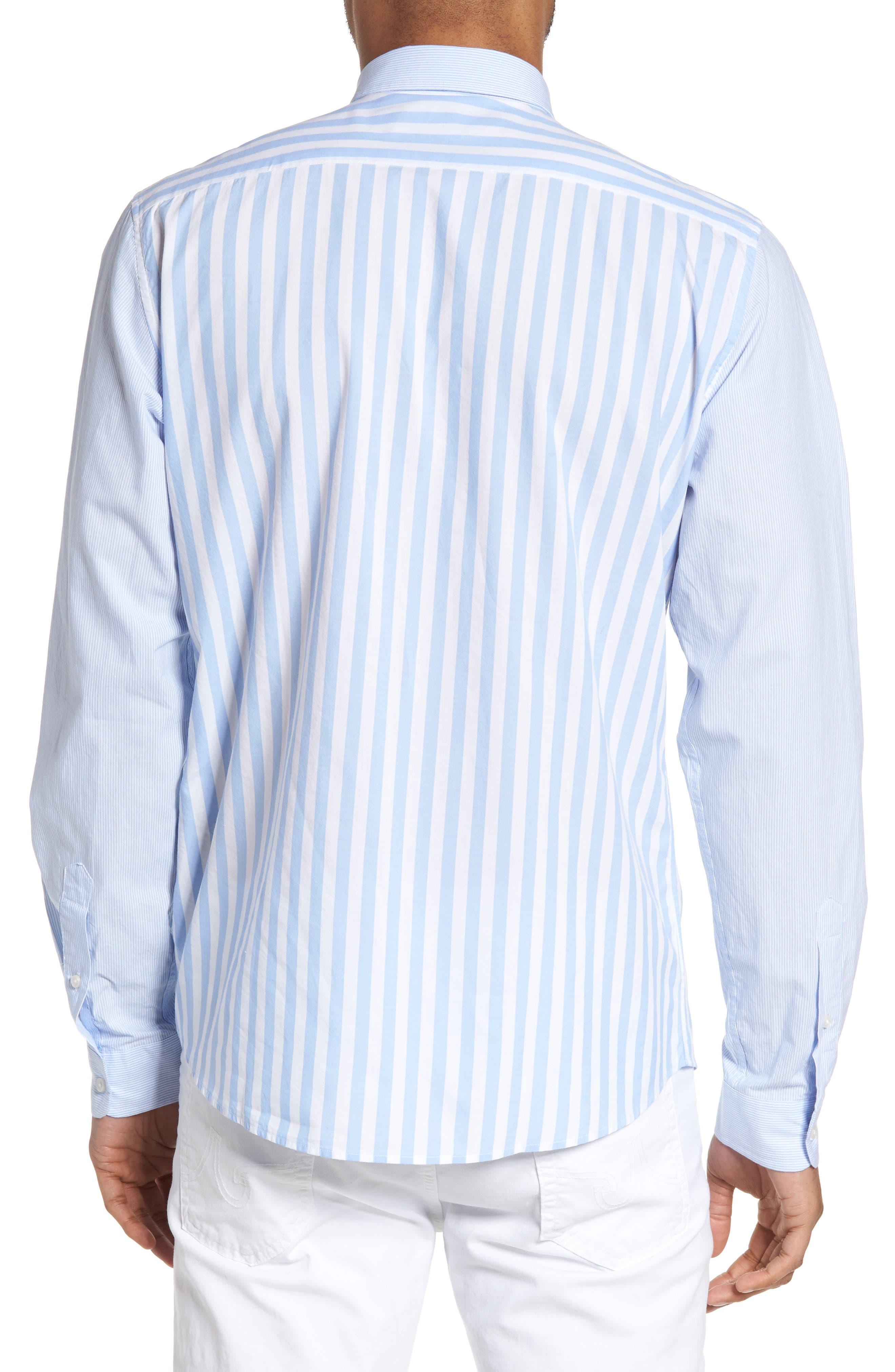 Slim Fit Stripe Sport Shirt,                             Alternate thumbnail 2, color,                             451