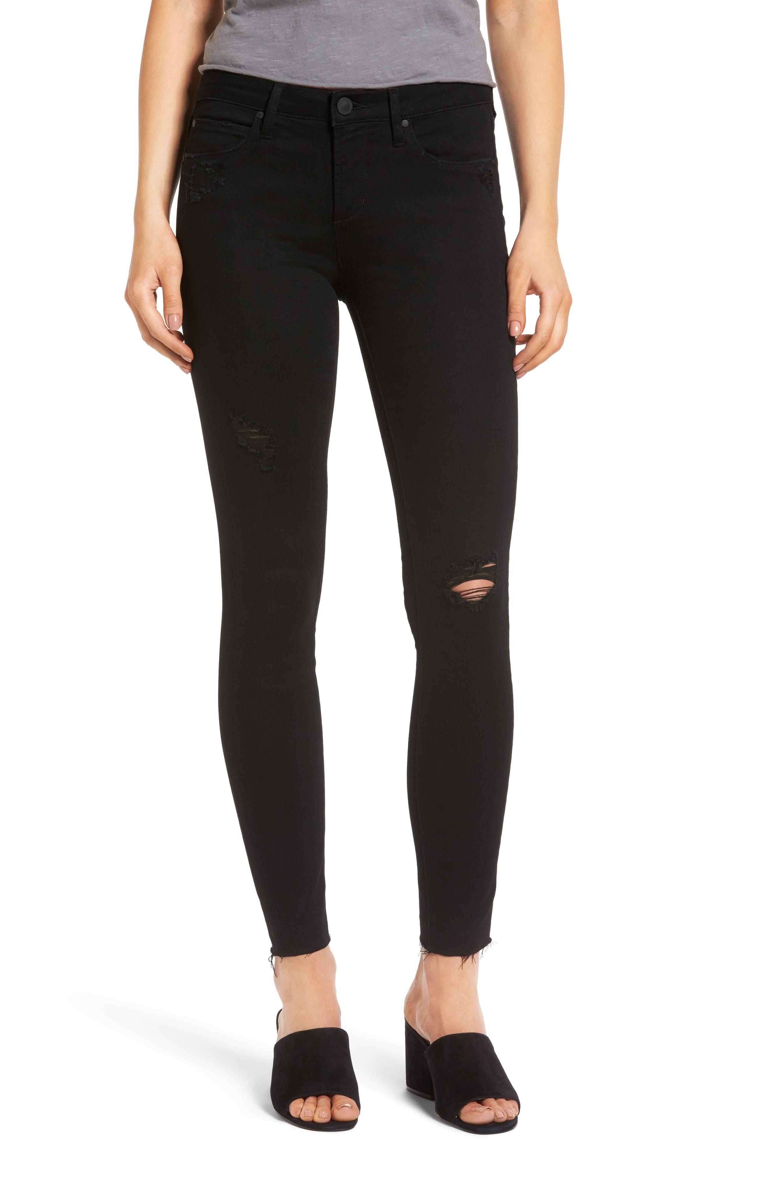 Sarah Skinny Jeans,                         Main,                         color, 001